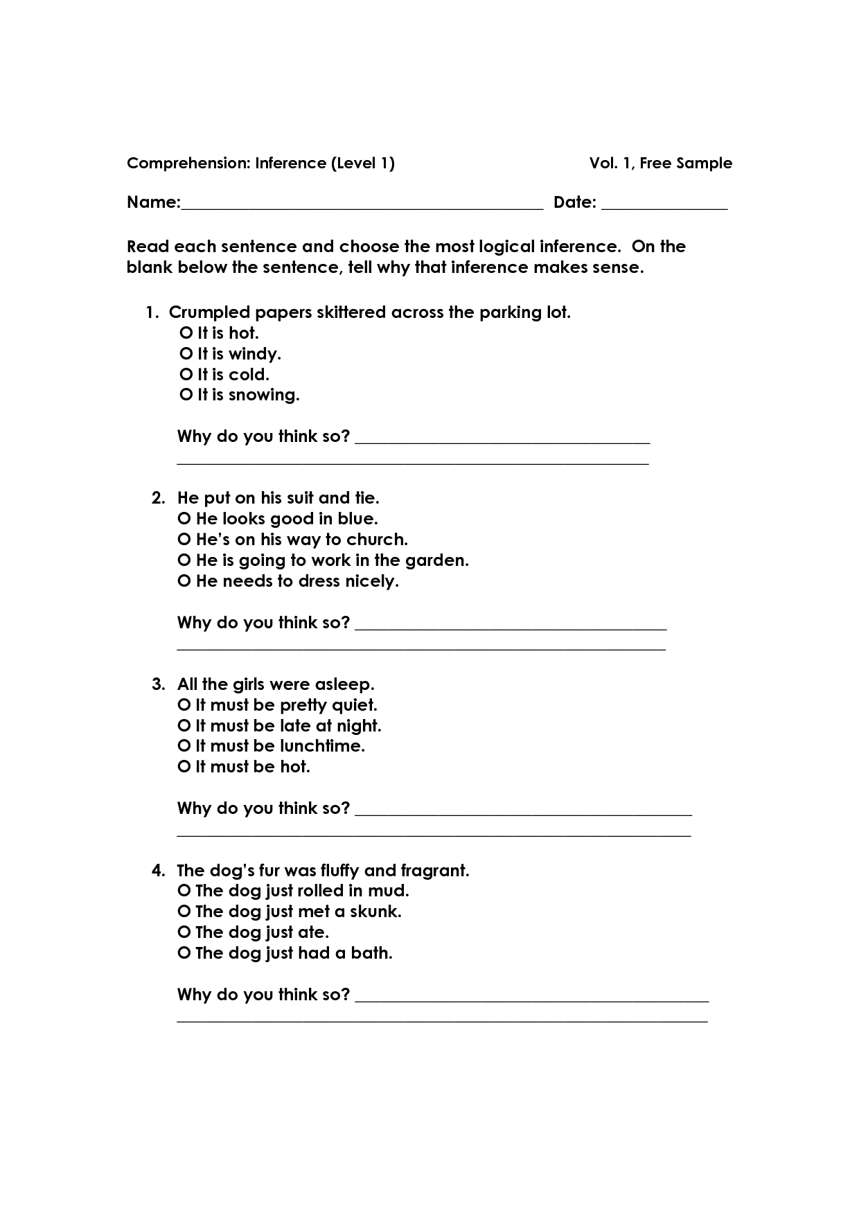 17 Best Images Of Drawing Inferences Worksheets 5th Grade