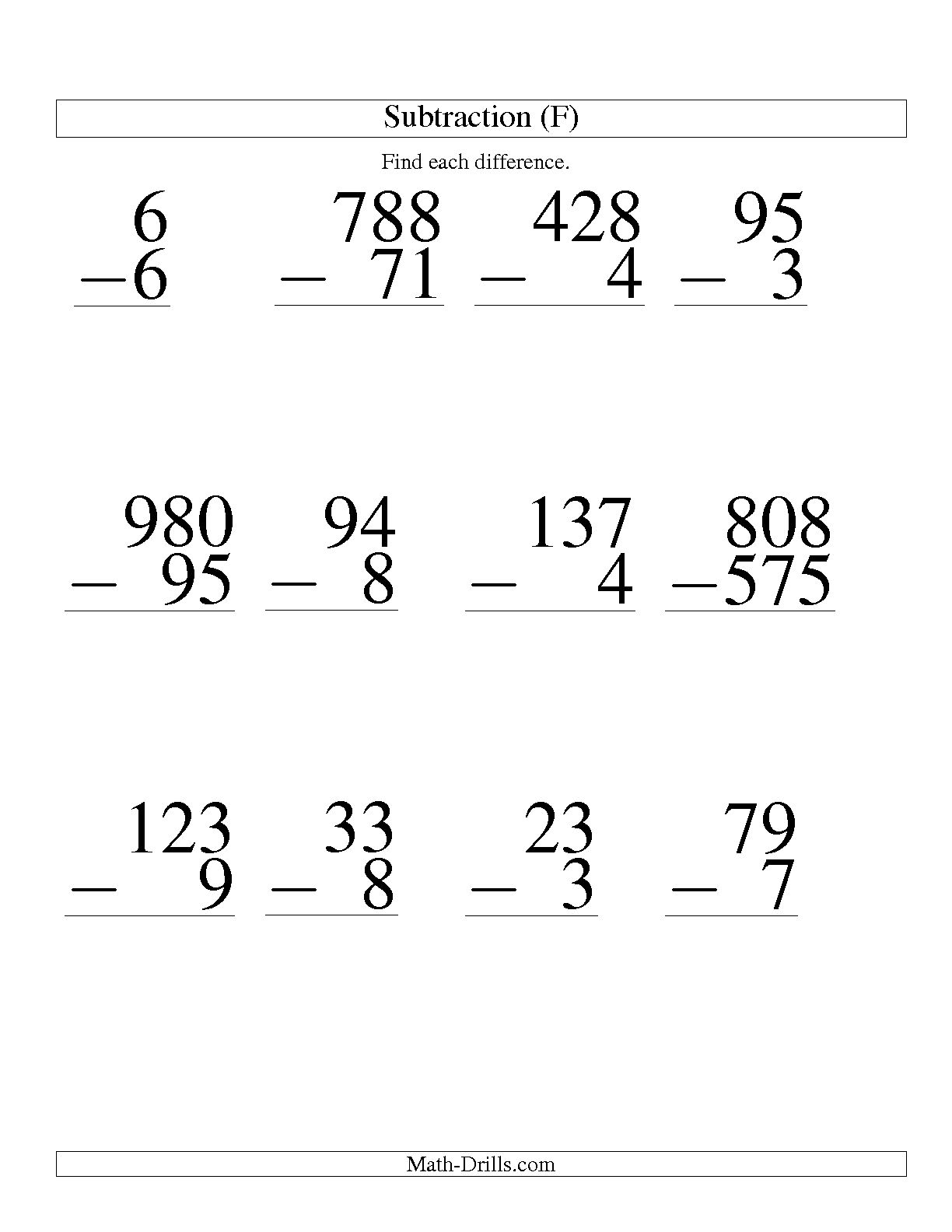 Large Print Math Addition Worksheet