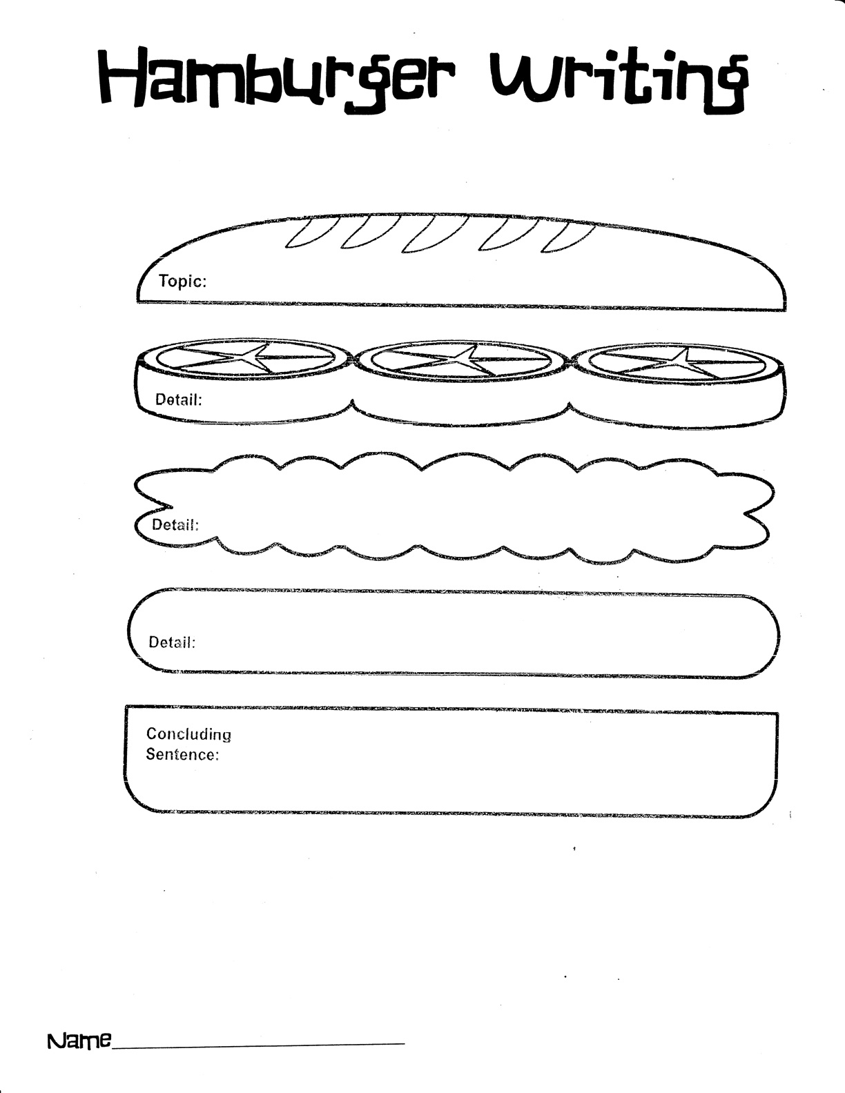 14 Best Images Of Hamburger Paragraph Writing Worksheet