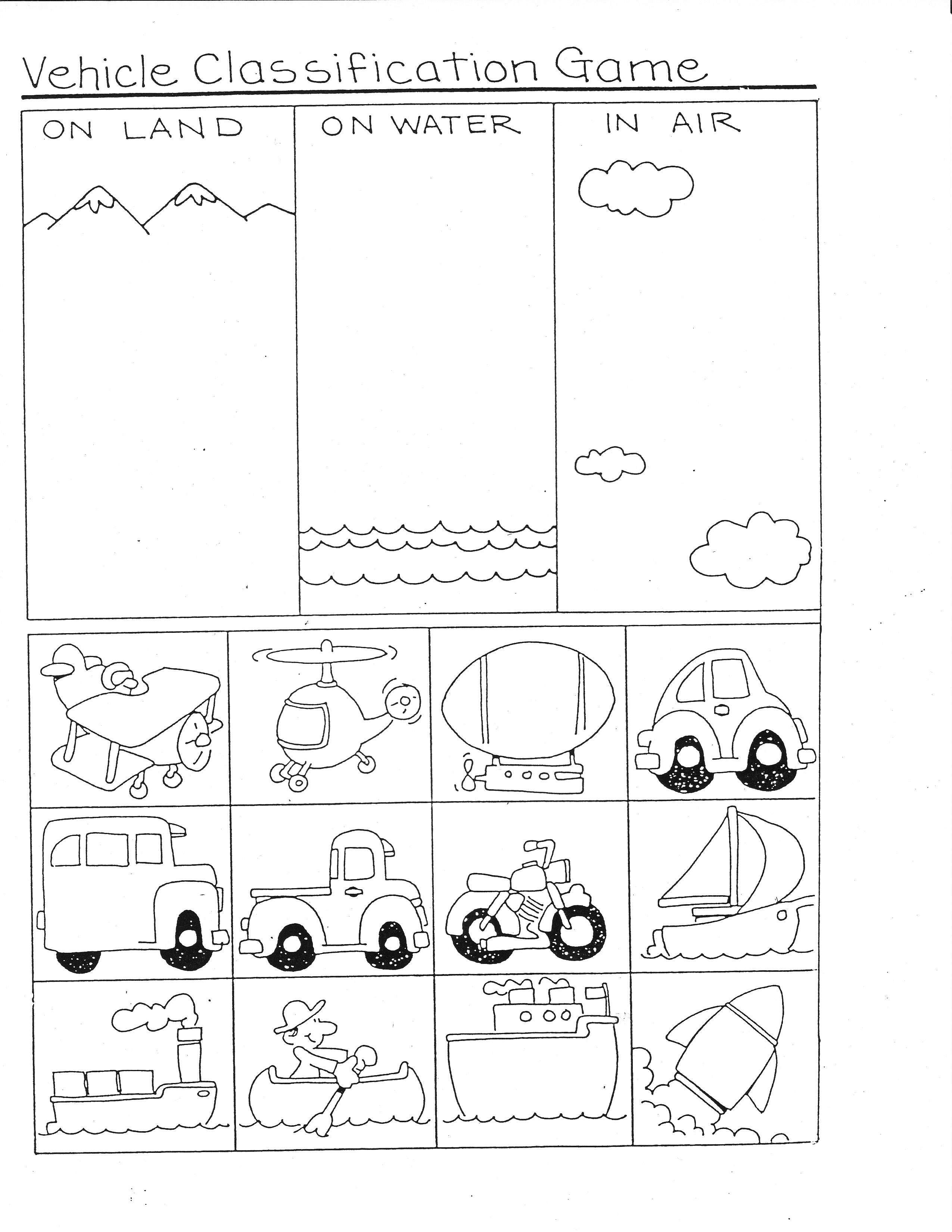 16 Best Images Of Free Transportation Matching Worksheets Preschool