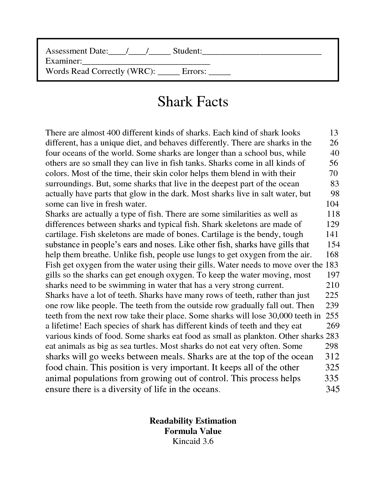 Worksheet 4th Grade Reading Passage fluency assessments for fourth grade pdf free reading comprehension worksheets 4th sage