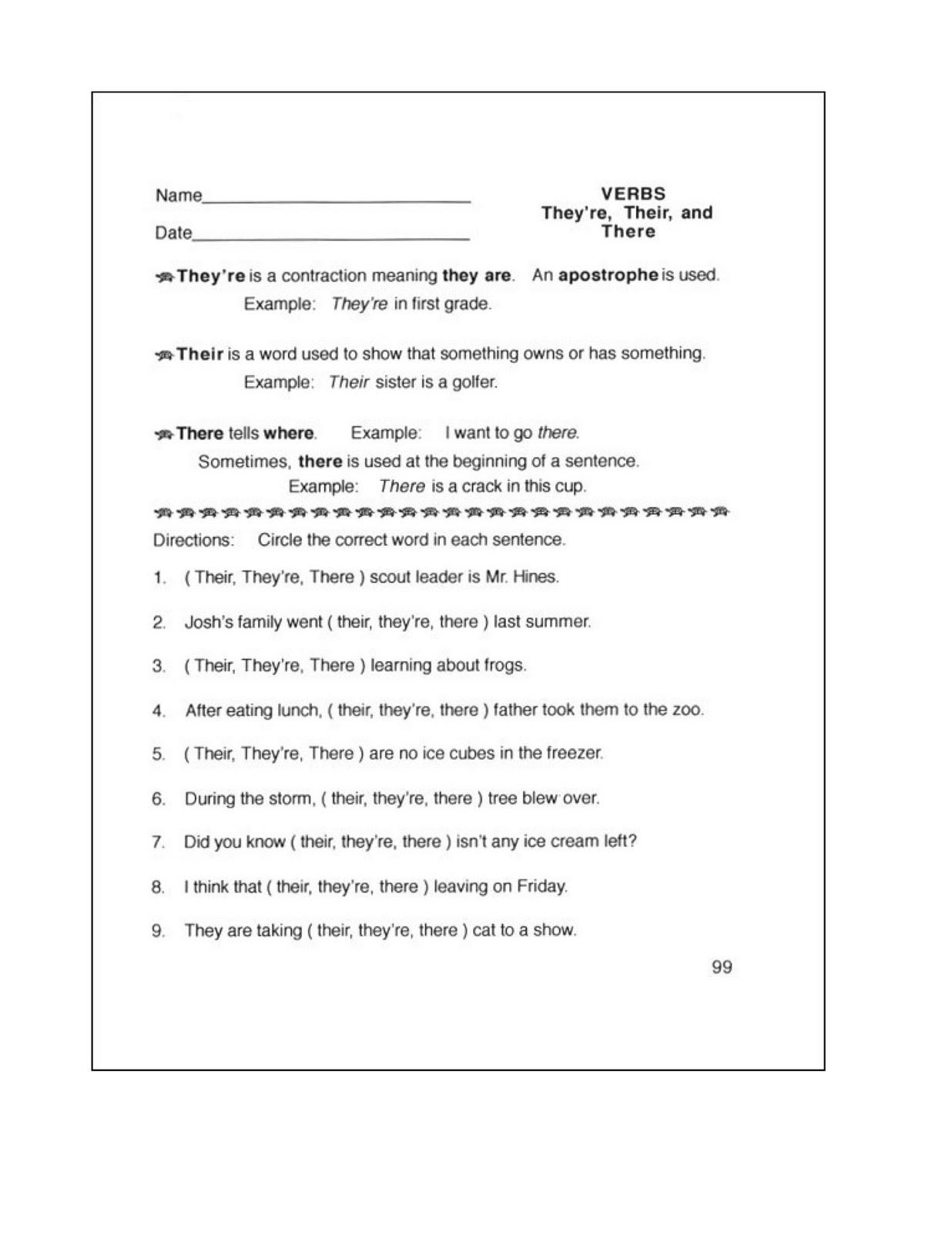 14 Best Images Of Easy Grammar Worksheets