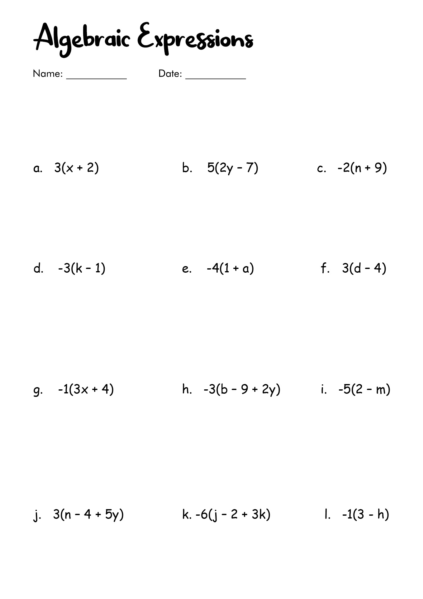 27 Simplify Each Expression Algebra 1 Worksheet