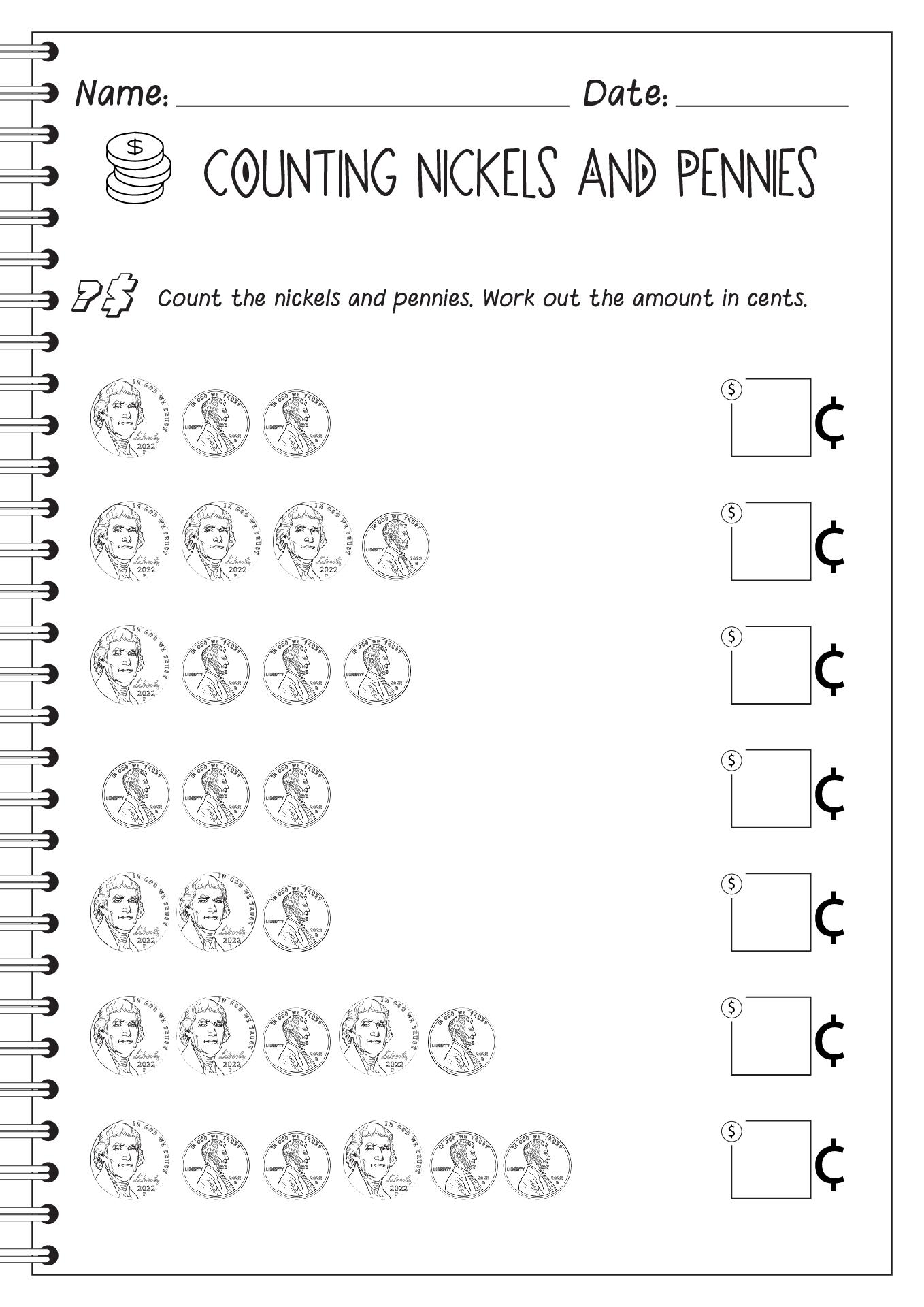14 Best Images Of Penny Worksheets For Kindergarten