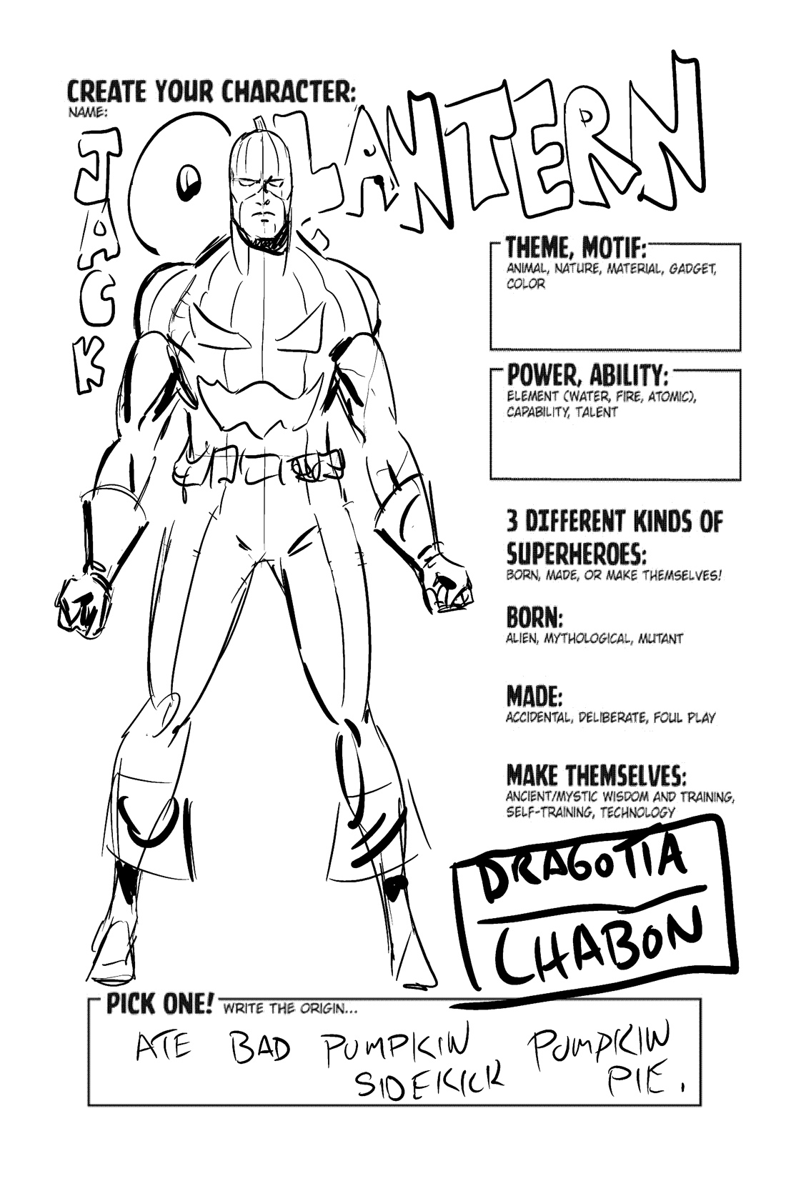 Make Your Own Superhero Coloring Page Coloring Pages