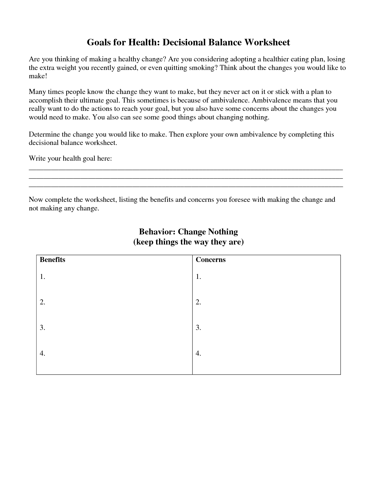 13 Best Images Of Life Balance Worksheet