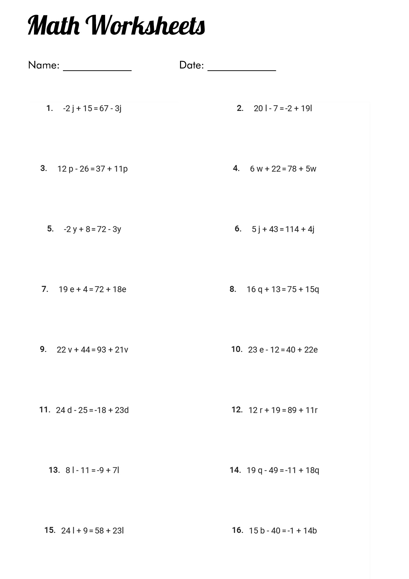 S Simplifying Fractions Worksheets