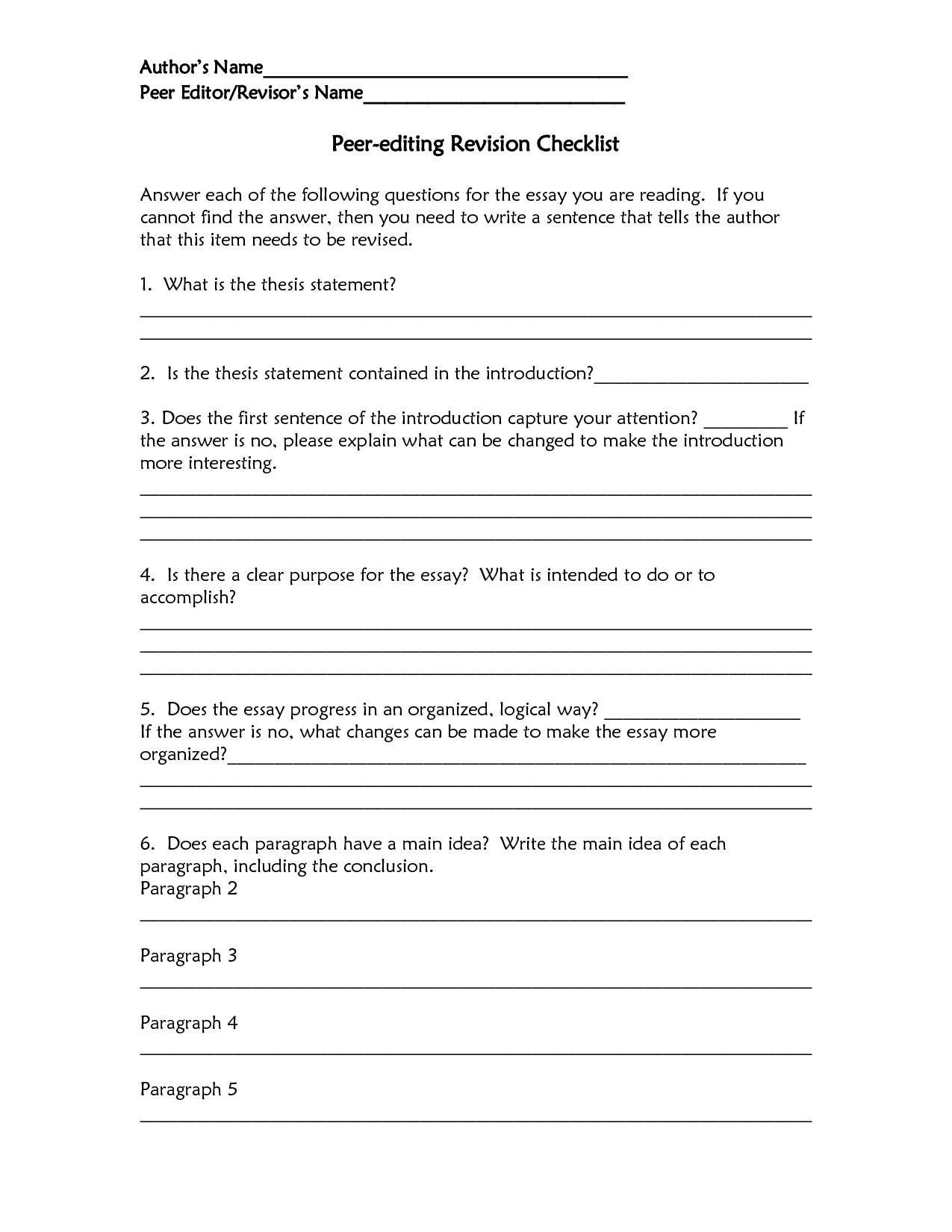 Ucla Admissions Essay Revision Checklist