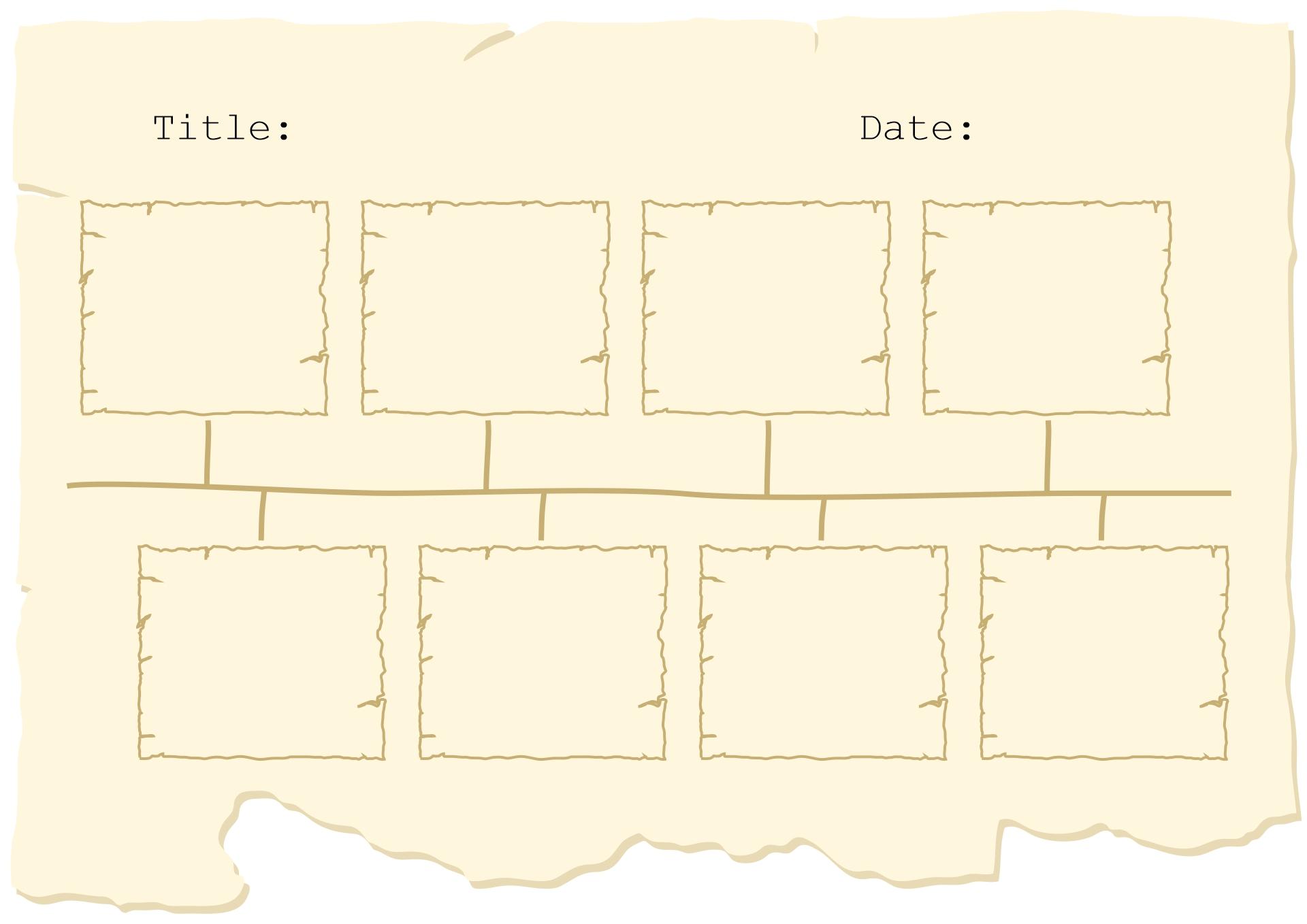 17 Best Images Of Blank Printable Timeline Worksheets
