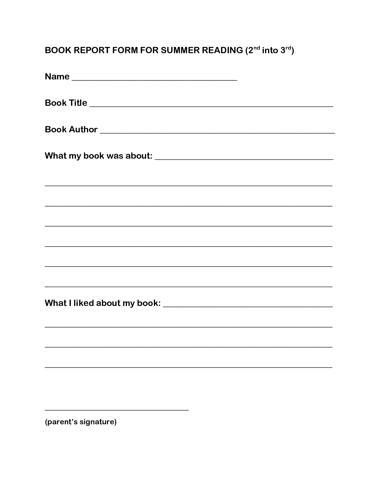 Biography Book Report Ideas For 4th Grade