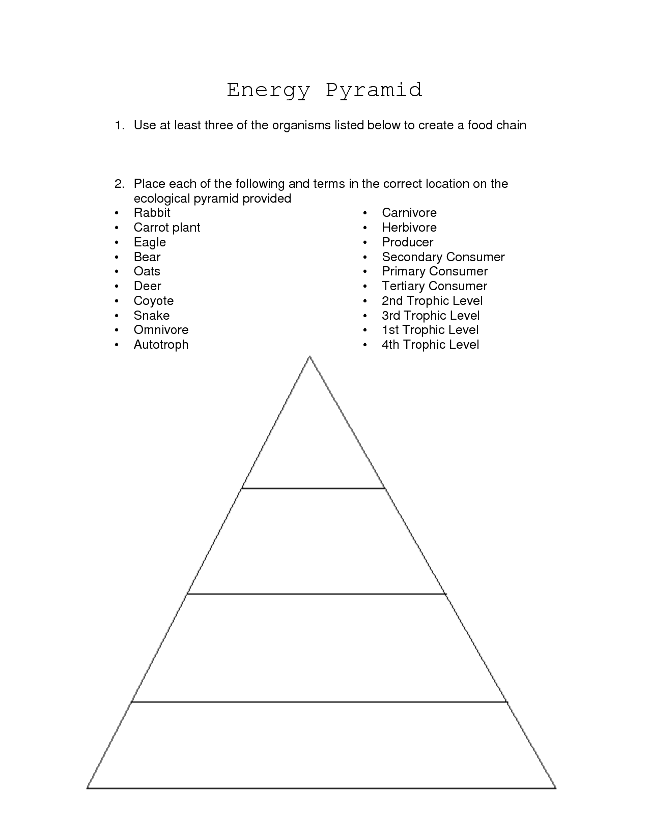 11 Best Images Of Worksheets Food Pyramid