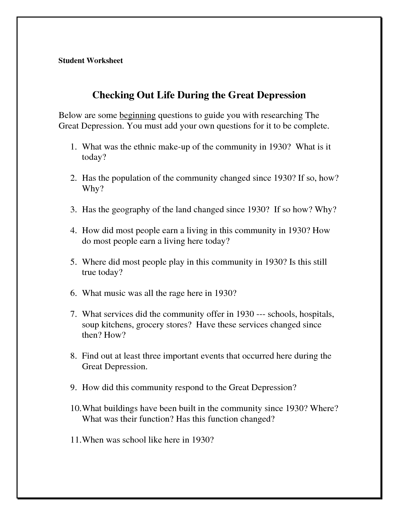 Coping Skills For Depression Worksheet