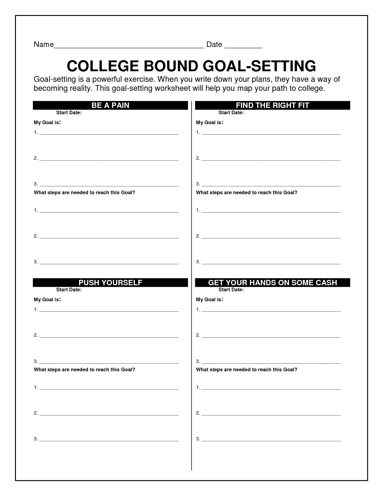 18 Best Images Of Goal Tracking Worksheet