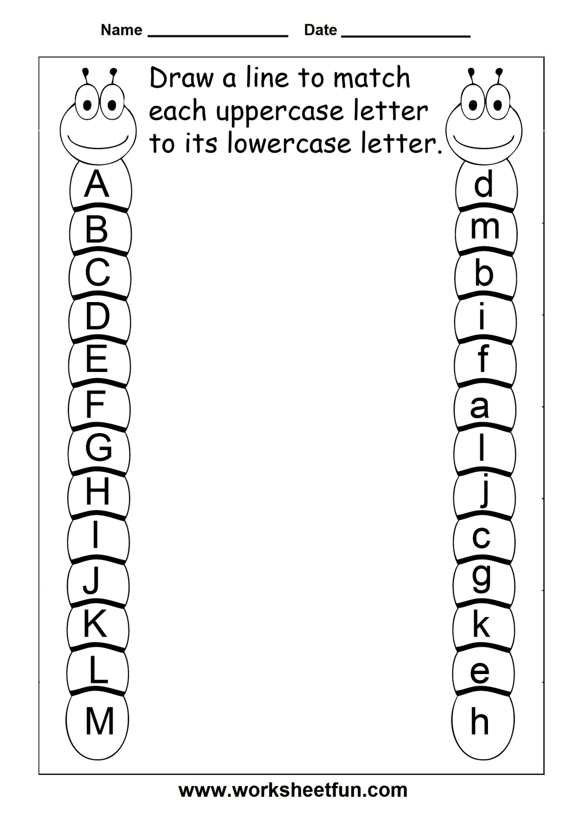 16 Best Images Of Matching Uppercase And Lowercase