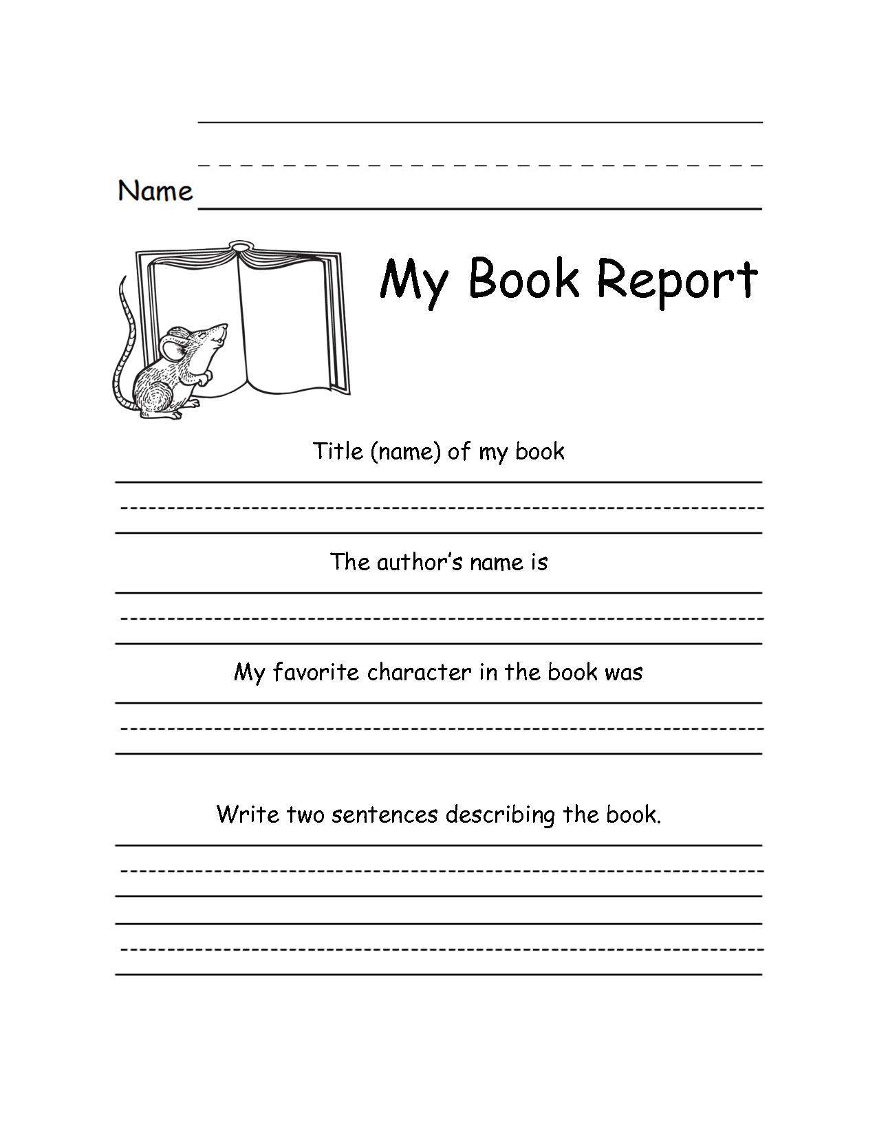 18 Best Images Of 3rd Grade Reading Response Worksheet