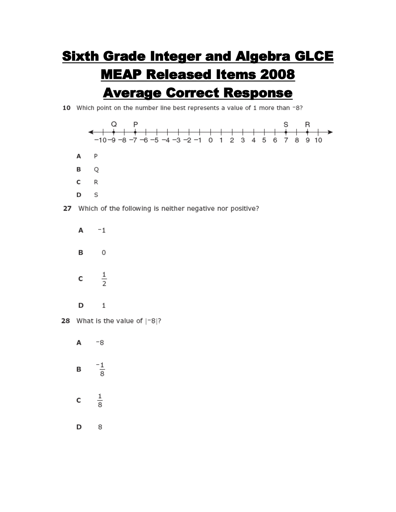 13 Best Images Of 6th Grade Integers Worksheets