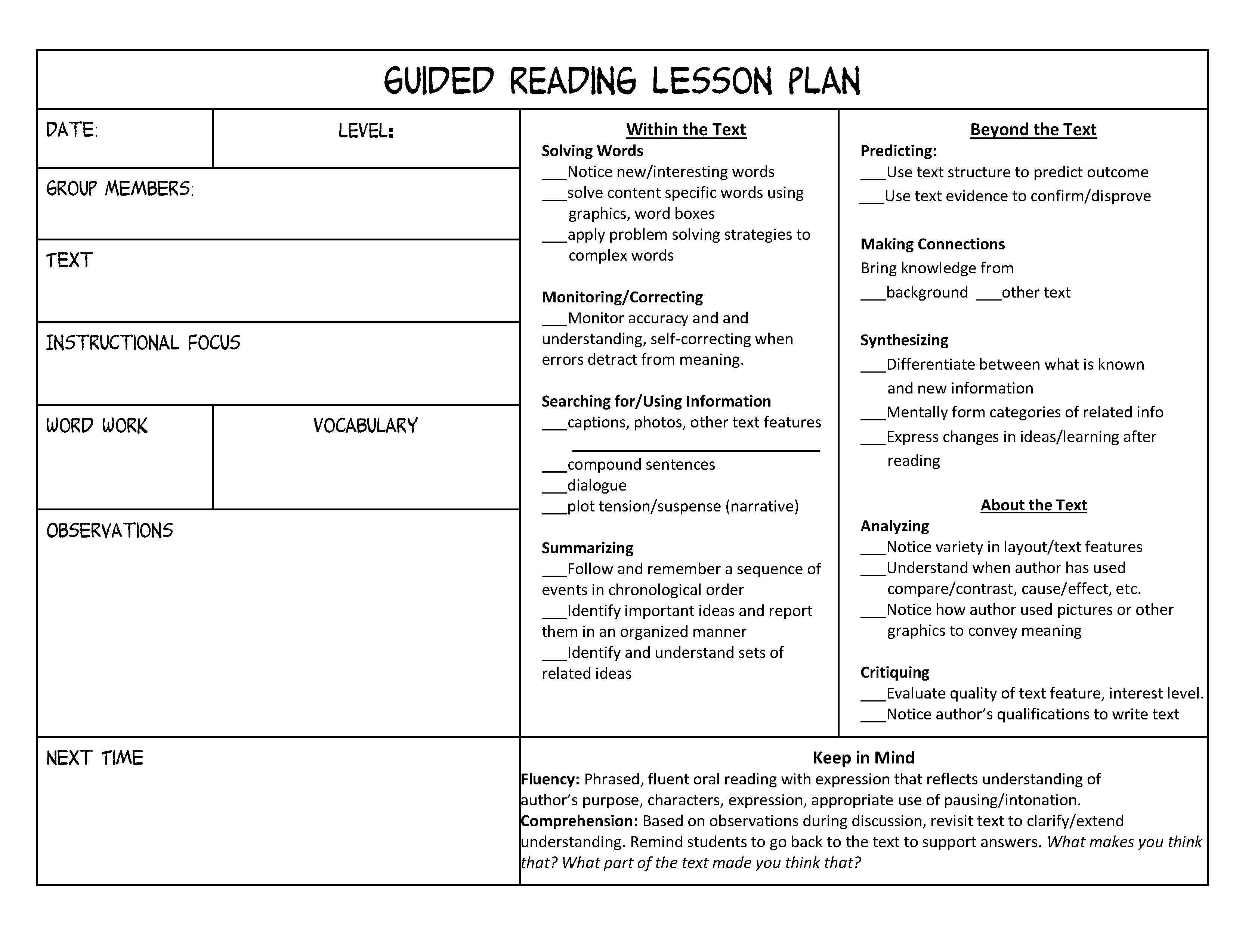 18 Best Images Of 3rd Grade Reading Response Worksheet