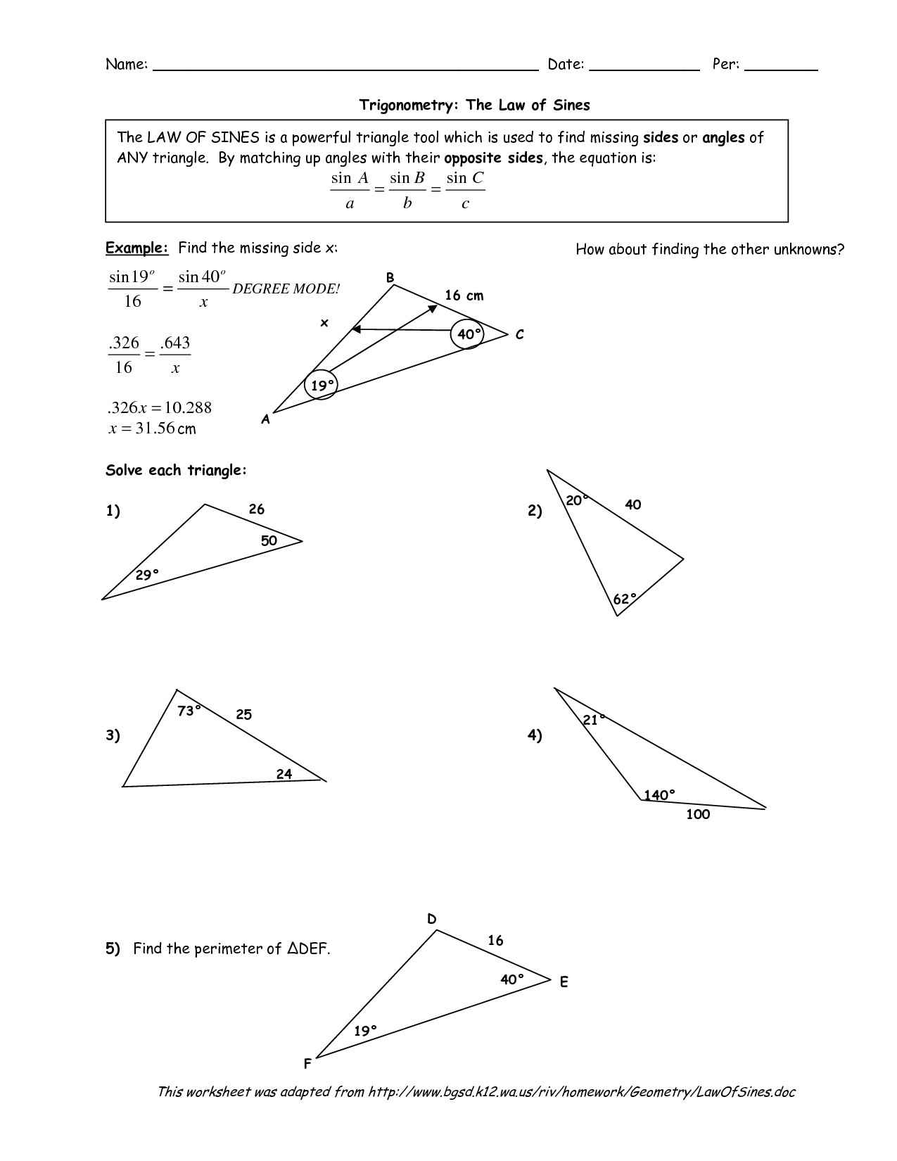 14 Best Images Of Classifying Triangles Worksheet Answers