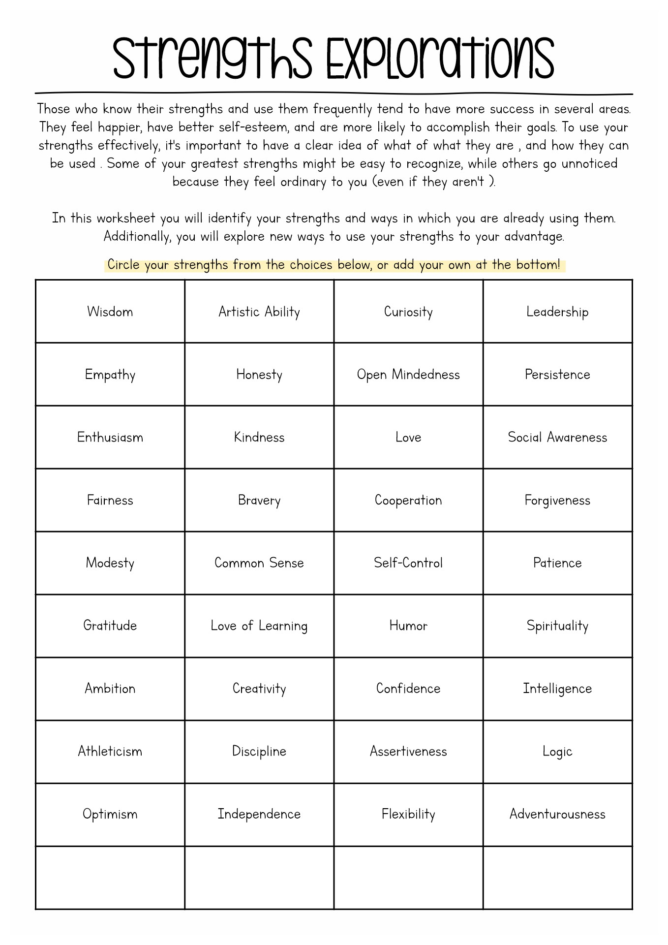 Self Care Worksheet For Adults