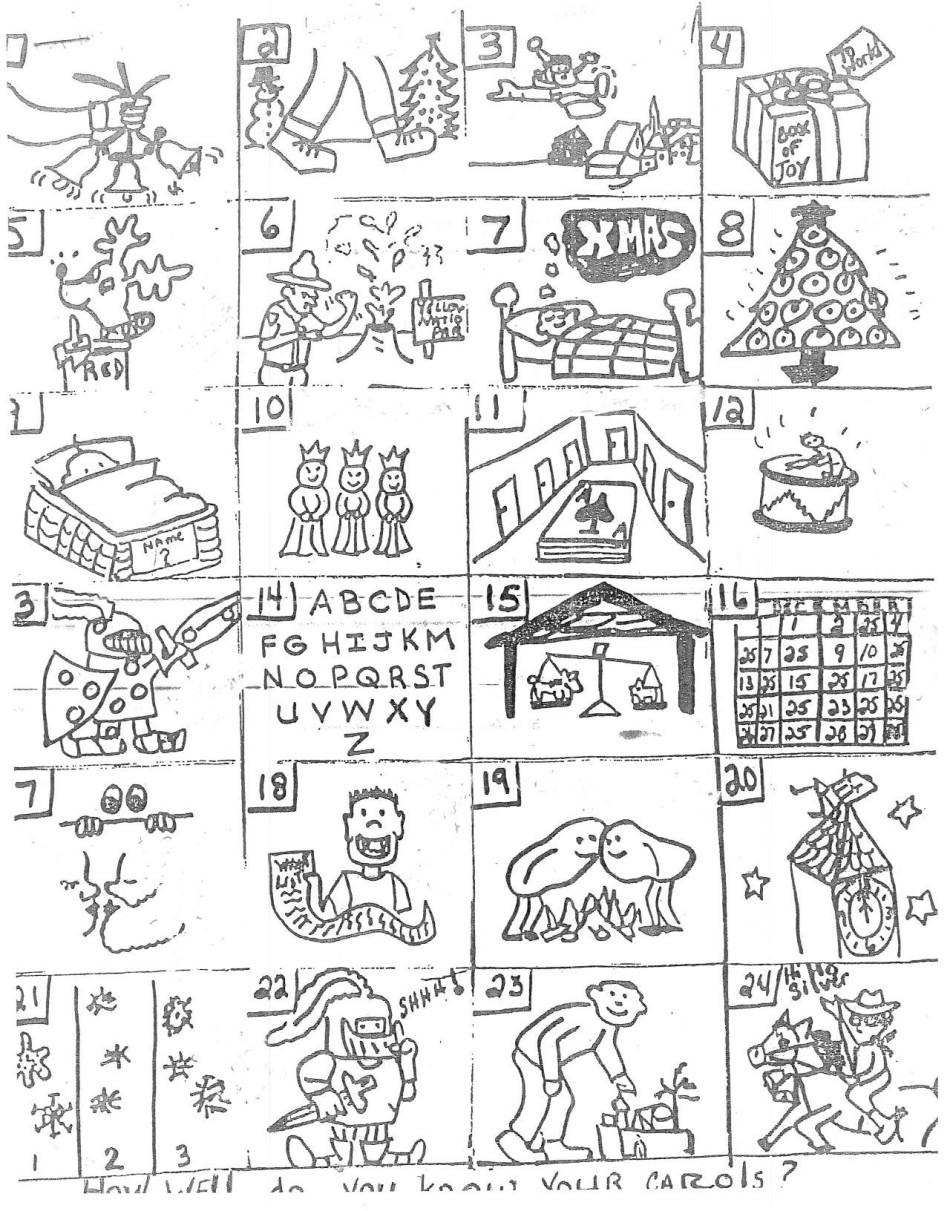 Printable Christmas Puzzles Answers