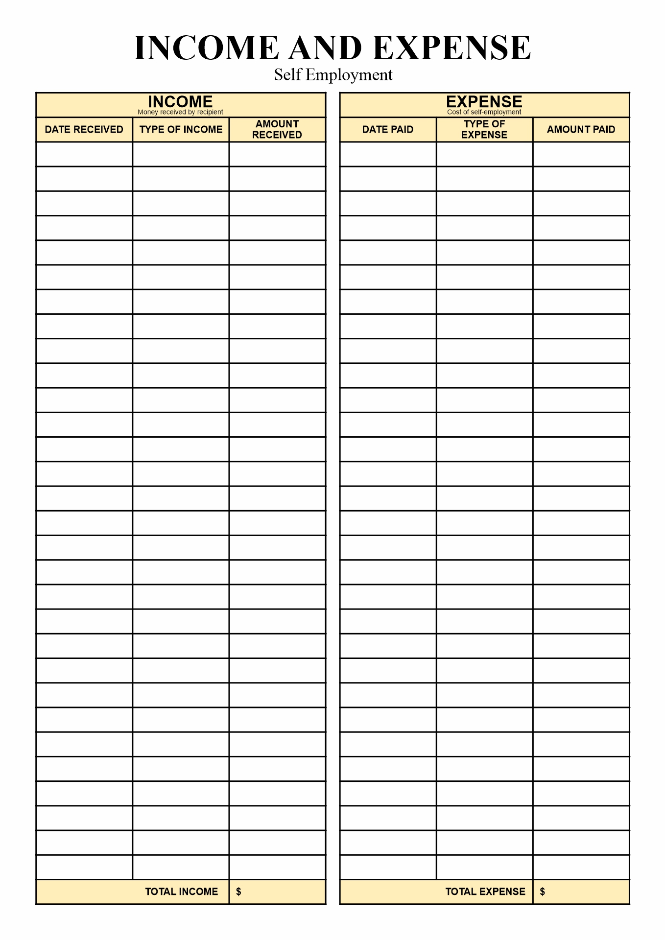 Self Employment Tax Worksheet