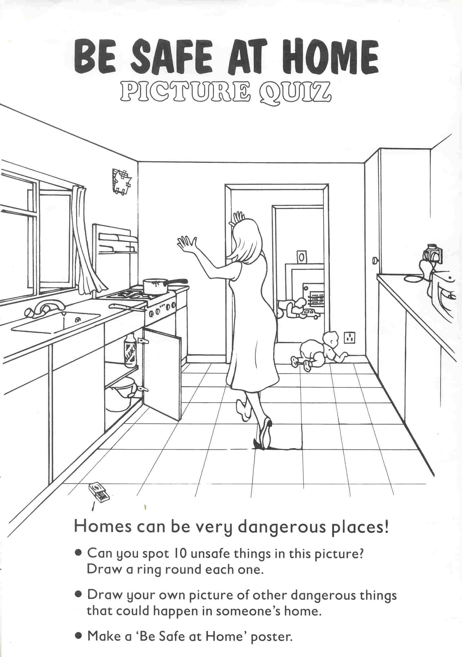 Kindergarten Worksheets On Home Safety