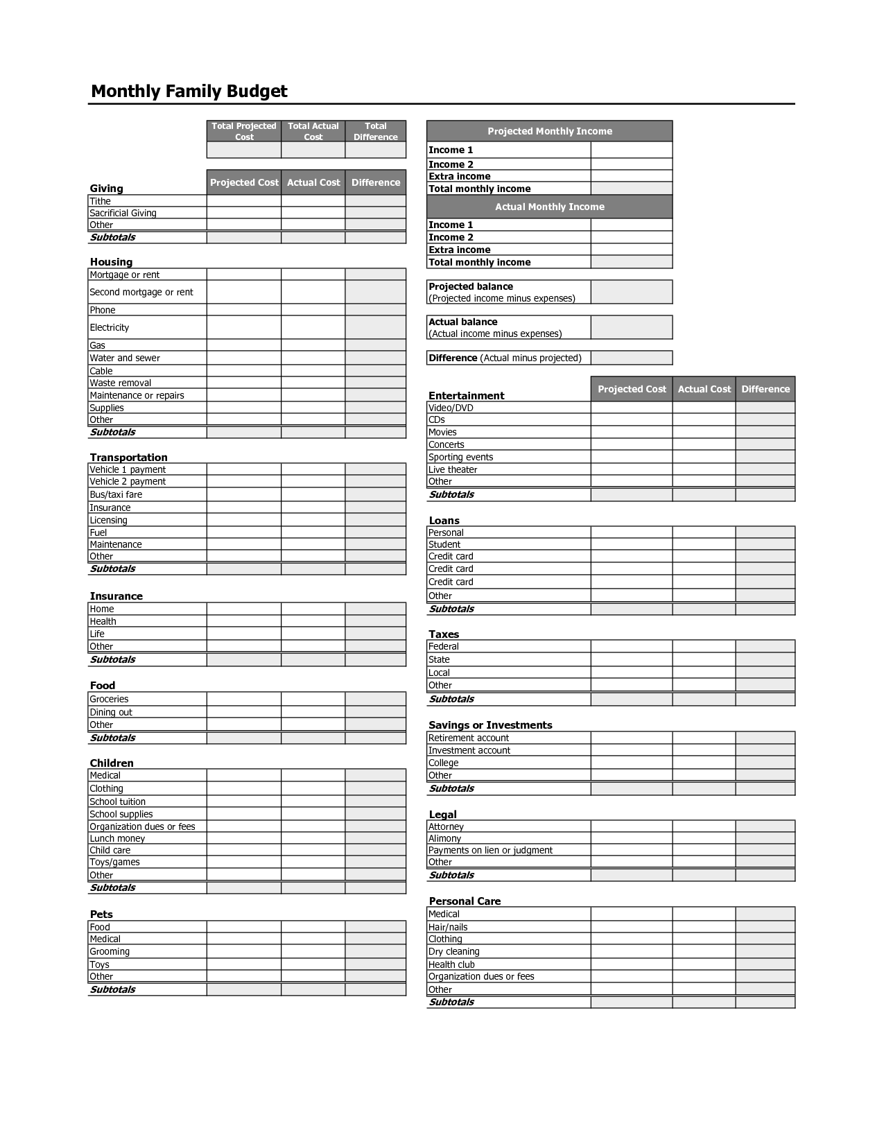 18 Best Images Of Budgeting Skills Worksheet