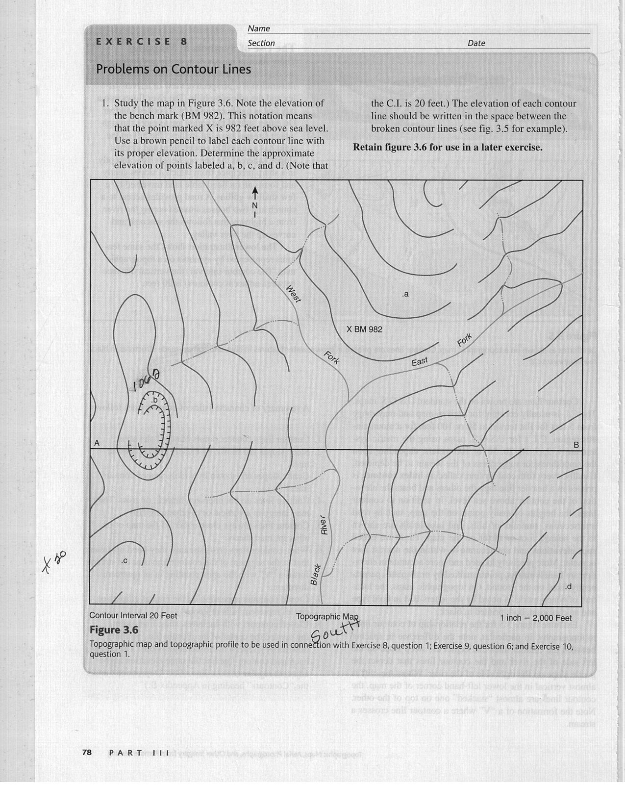 6 Best Images Of Topographic Maps Worksheets For Students
