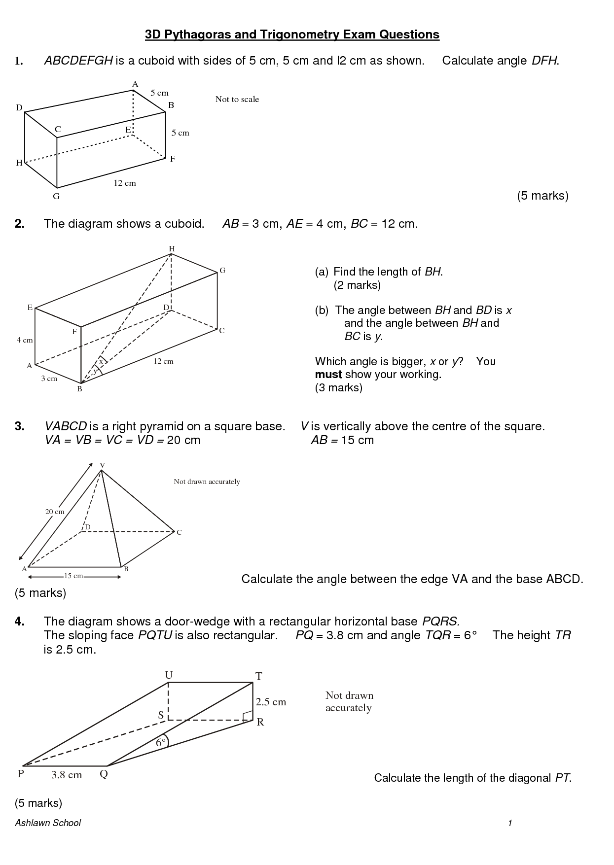 7 Best Images Of 3d Shape Properties Worksheet