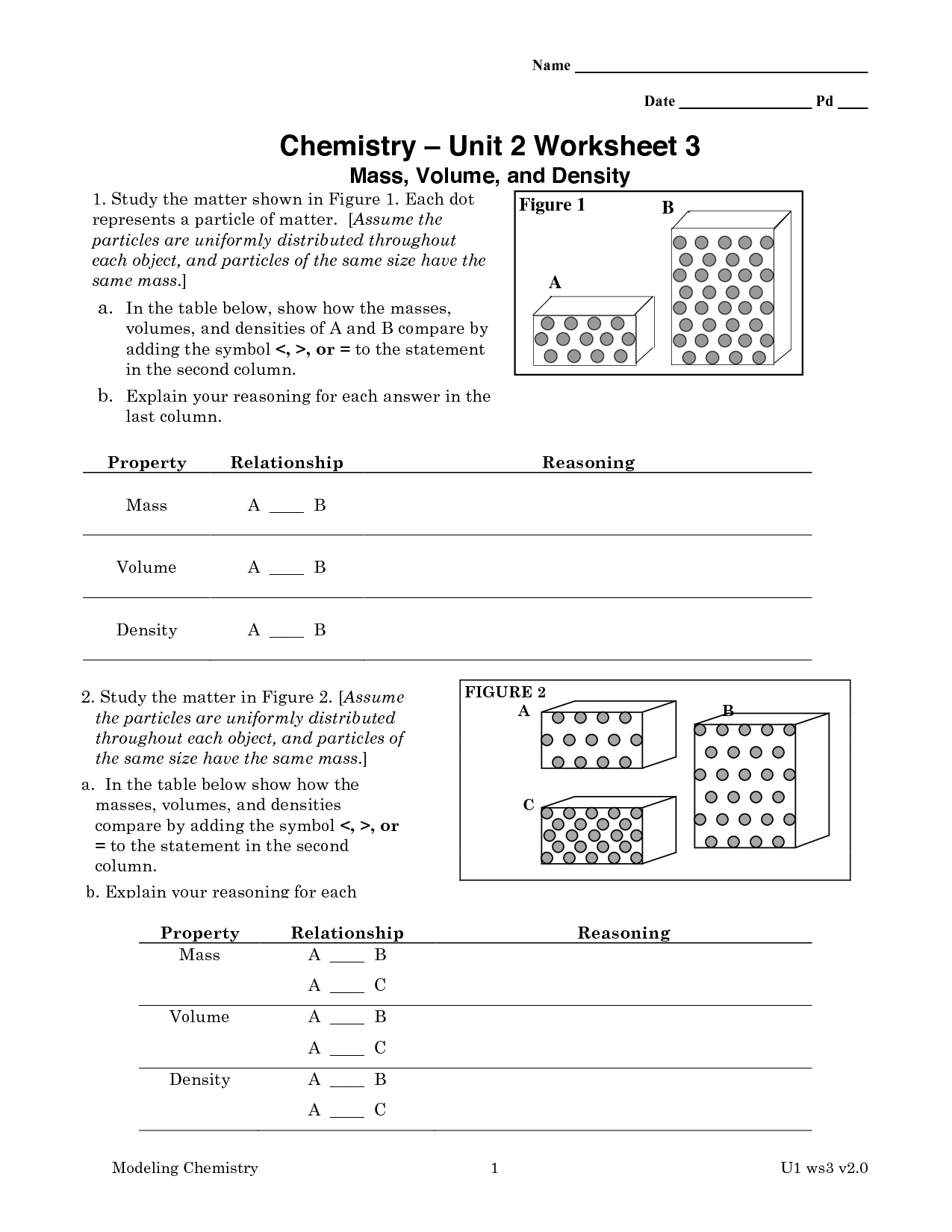 32 Chemistry 1 Worksheet Classification Of Matter And
