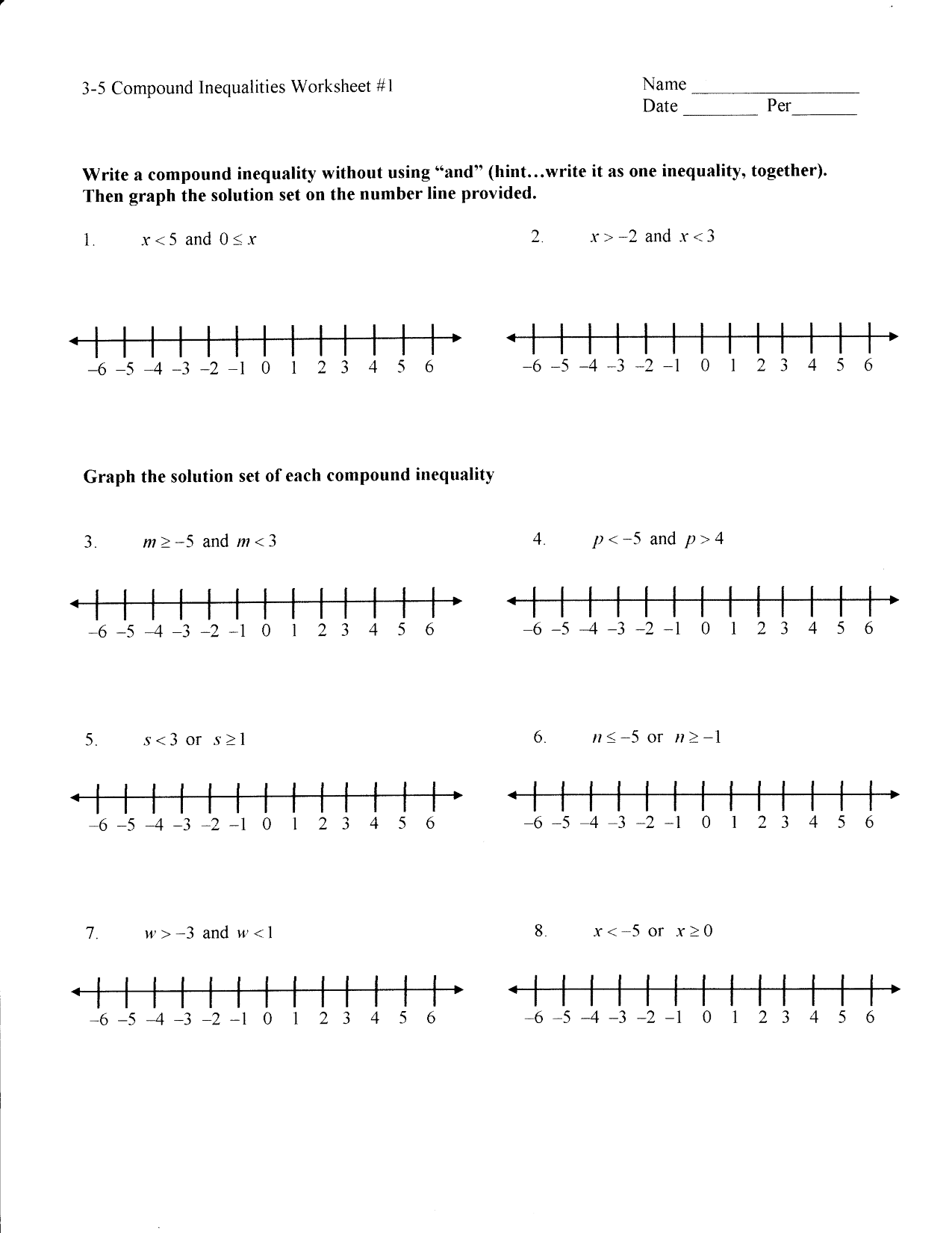 11 Best Images Of Solving Inequalities Worksheets Grade 7