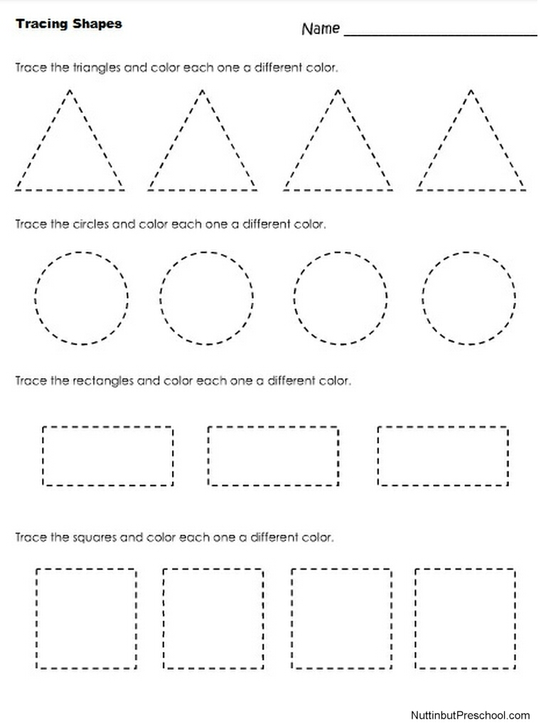 7 Best Images Of Rectangle Shape Tracing Worksheets