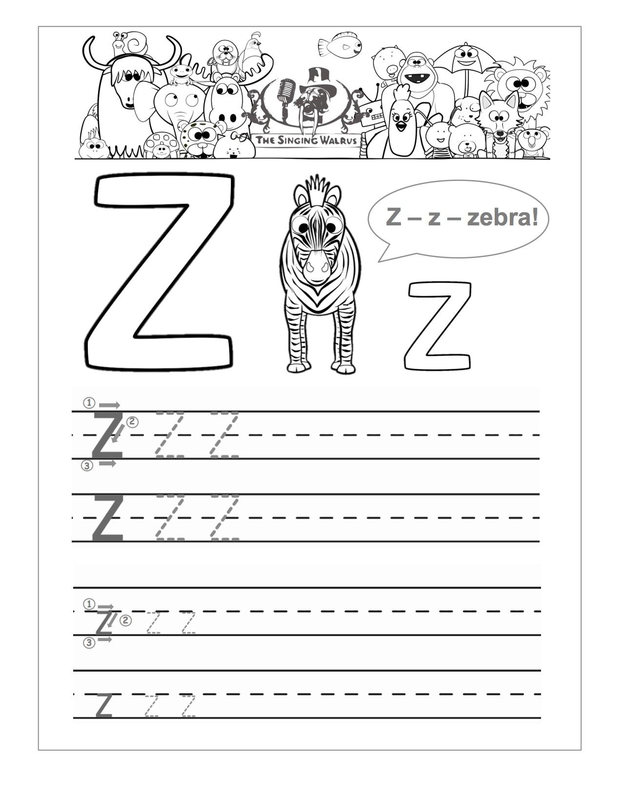 13 Best Images Of Letter Z Practice Worksheet