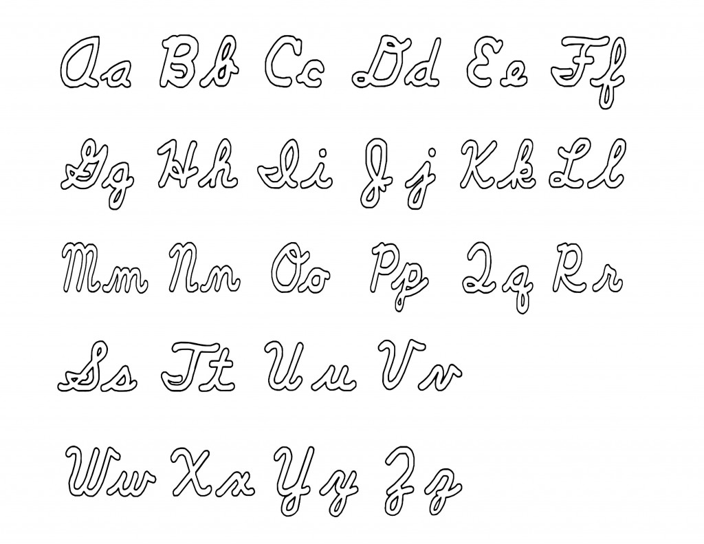 12 Best Images Of Capital Cursive Letters Worksheets