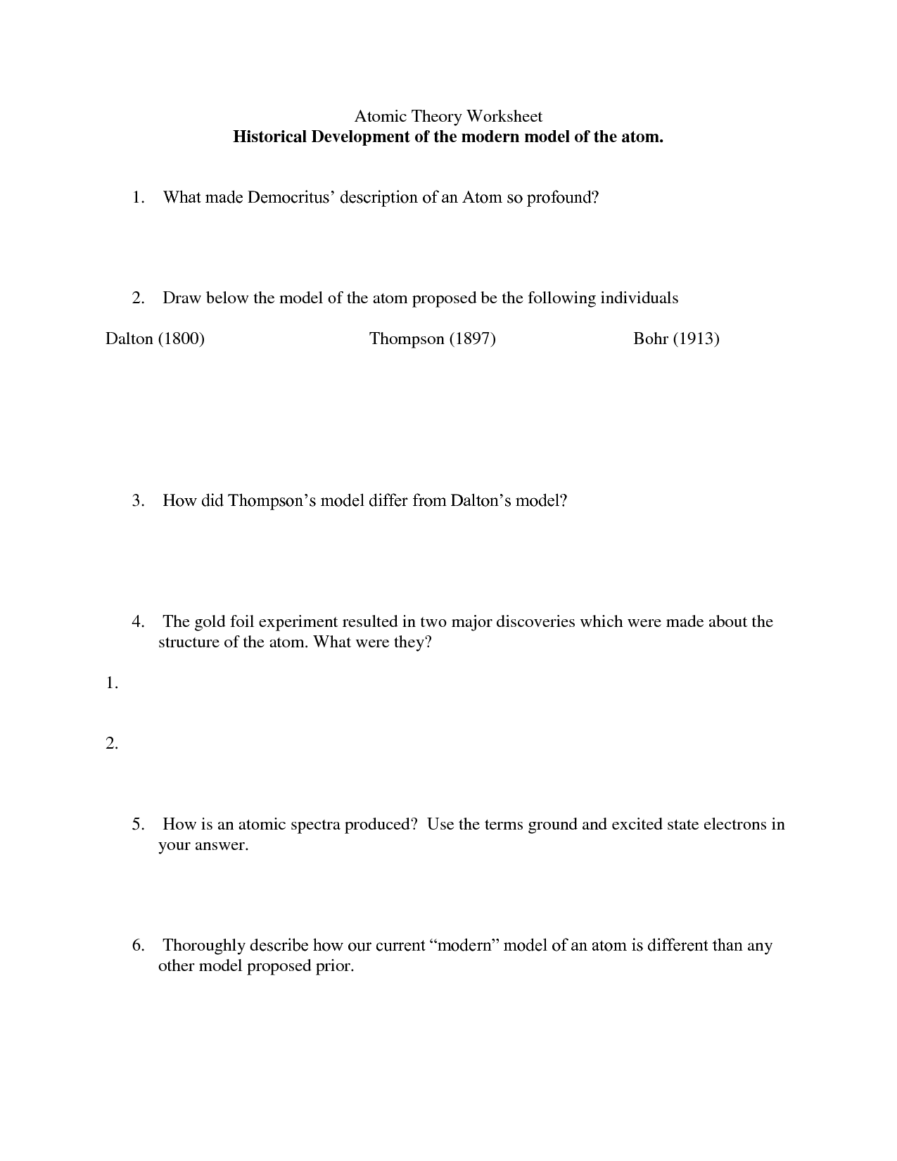 Atomic Structure Nuclear Symbols Worksheet Answers