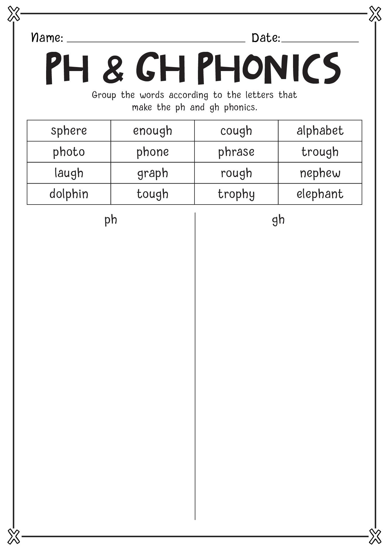 Of Ph Phonics Worksheets