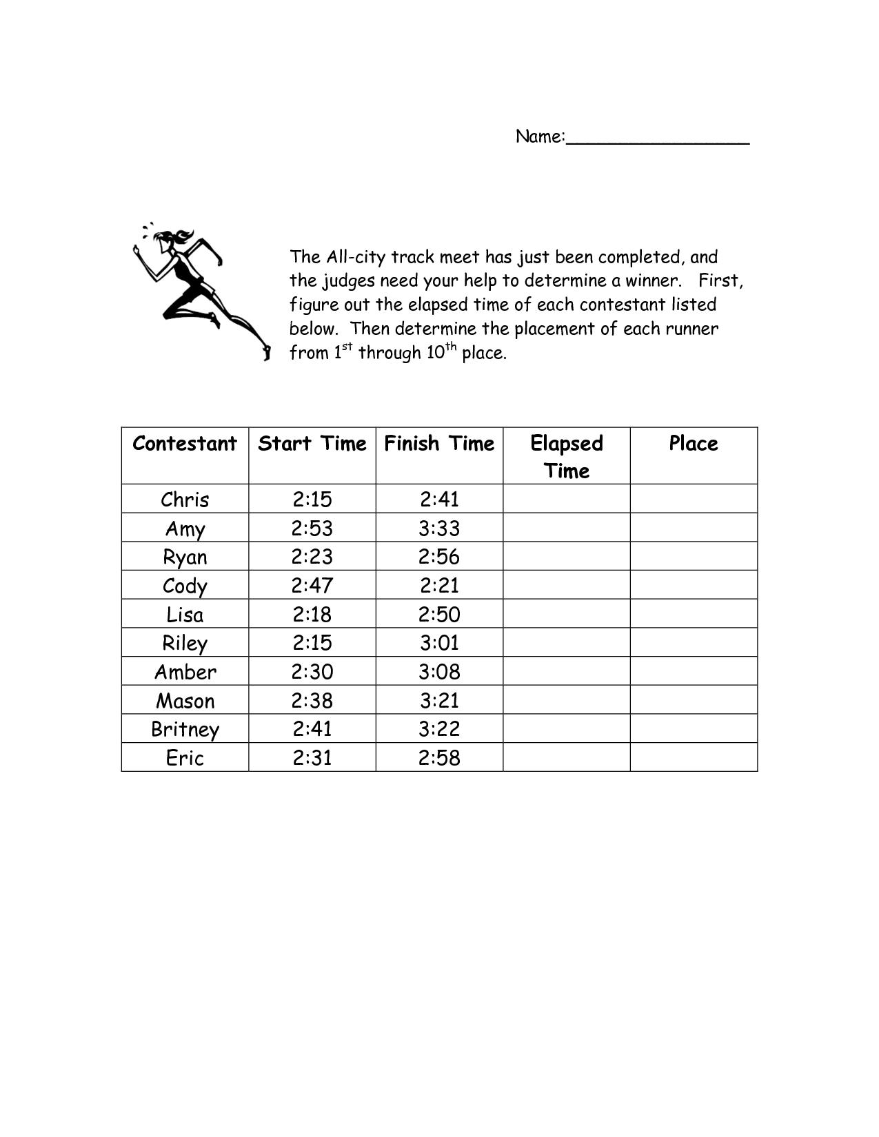 17 Best Images Of 3rd Grade Clock Worksheets