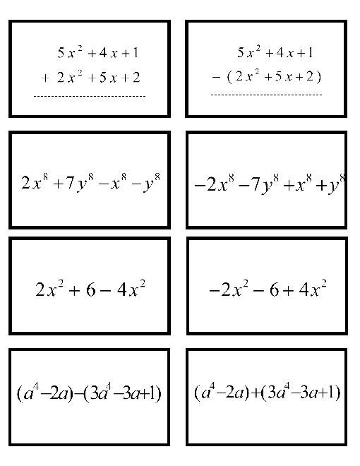 10 Best Images Of Adding Polynomials Worksheet With