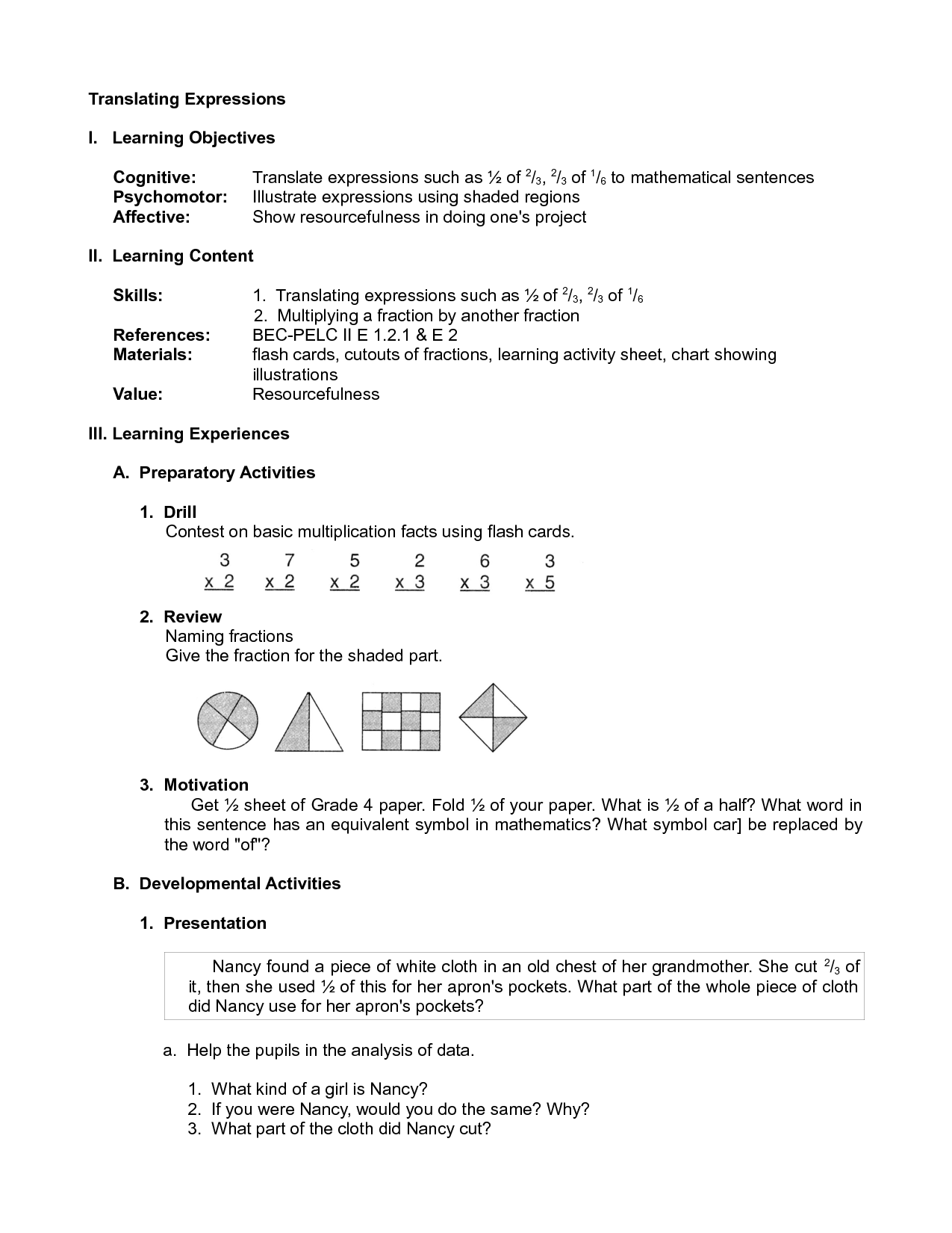 16 Best Images Of Translating Verbal Expressions