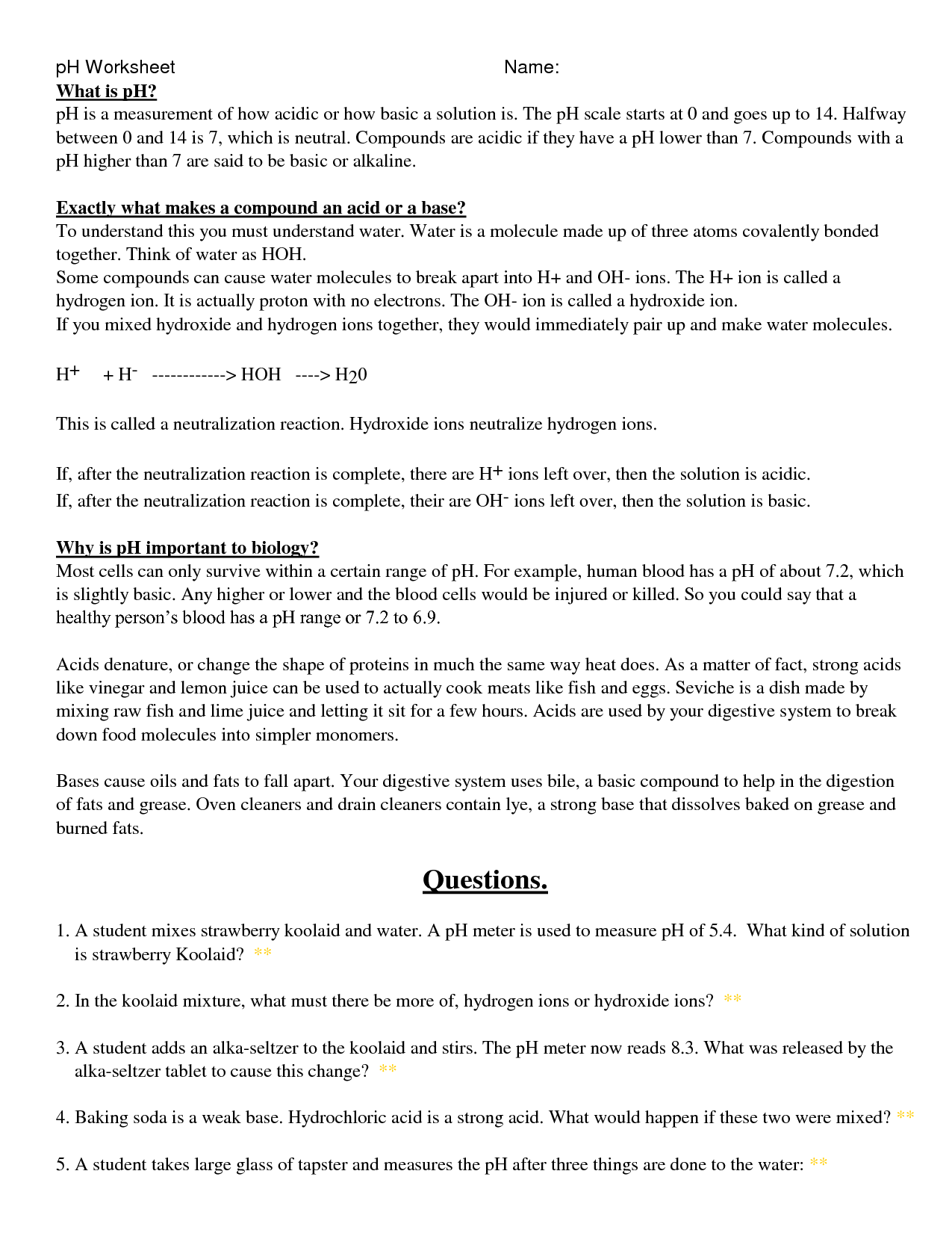 9 Best Images Of Water Molecule Worksheet