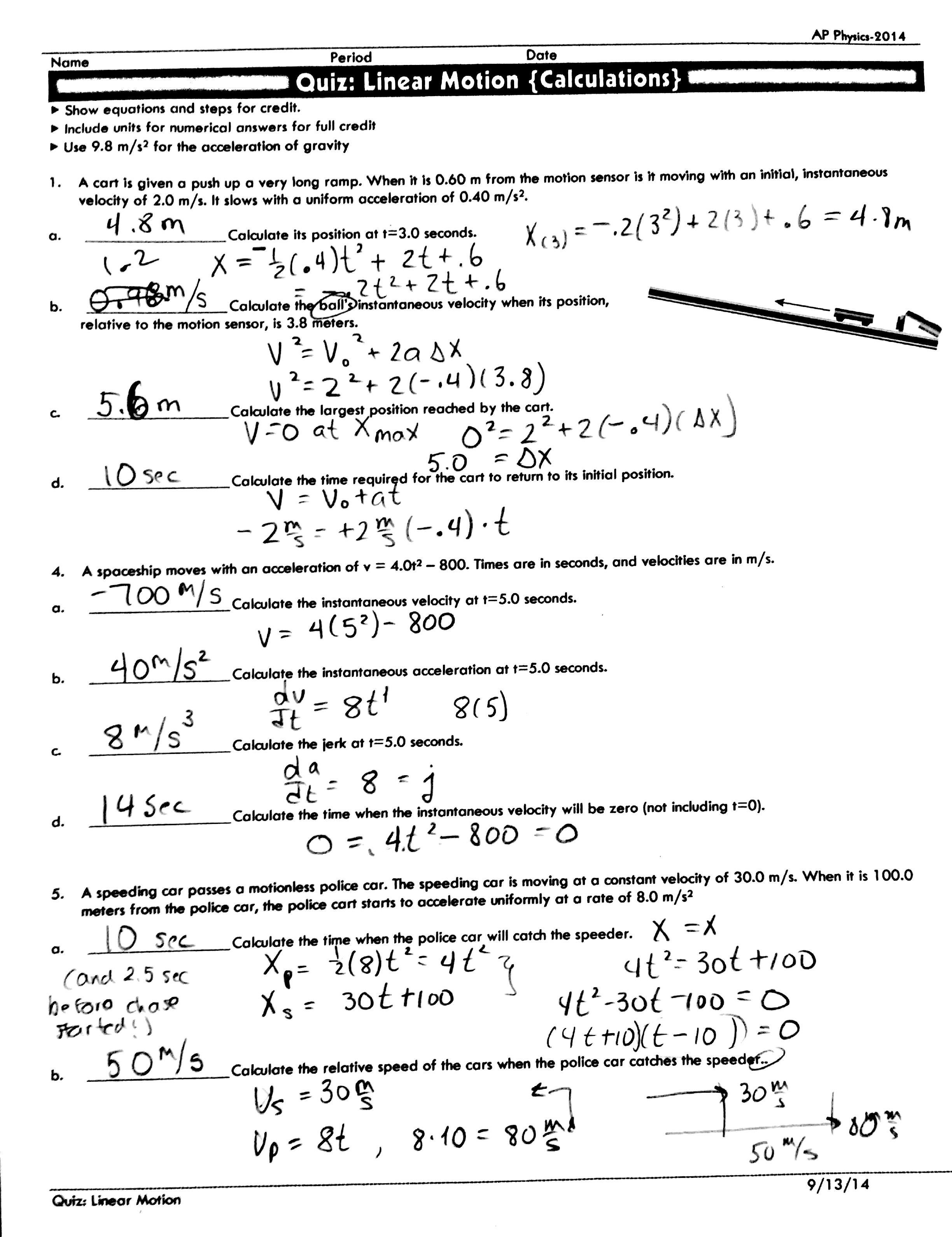 Wave Calculations Worksheet