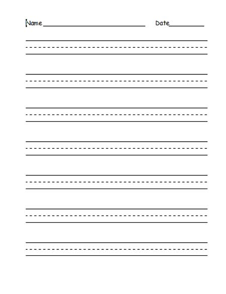 Preschool writing paper template free – White Paper Template Free Download