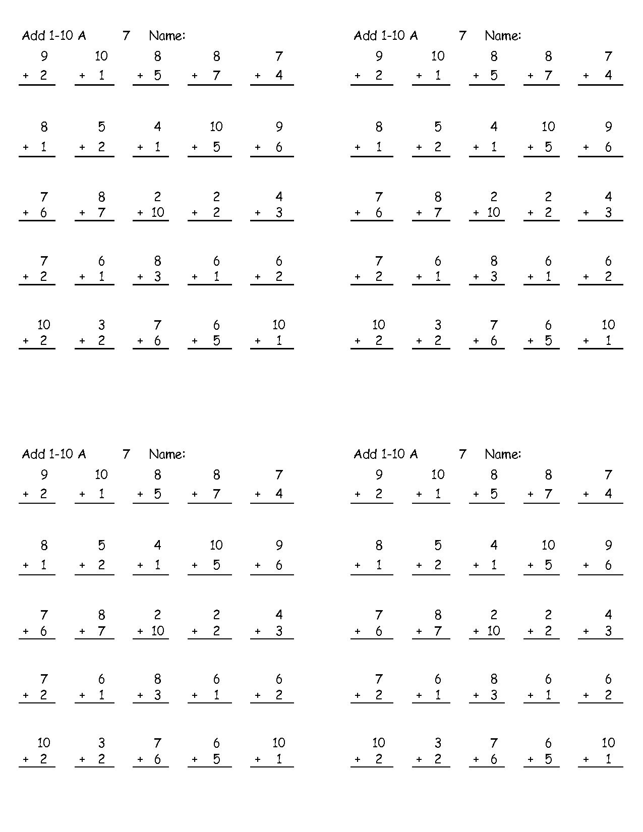 14 Best Images Of Math Make 10 Worksheet