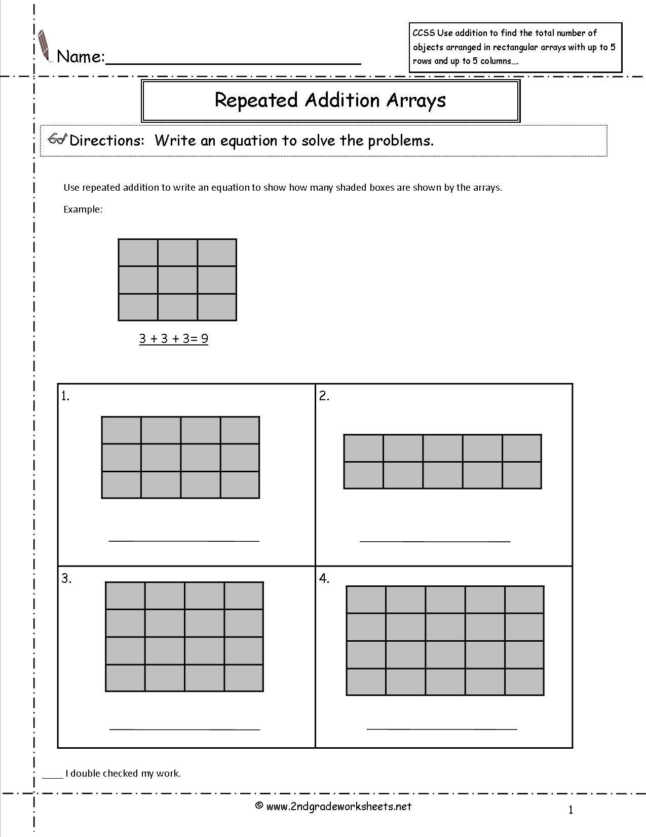 16 Best Images Of Multiplication Array Worksheets On Graph