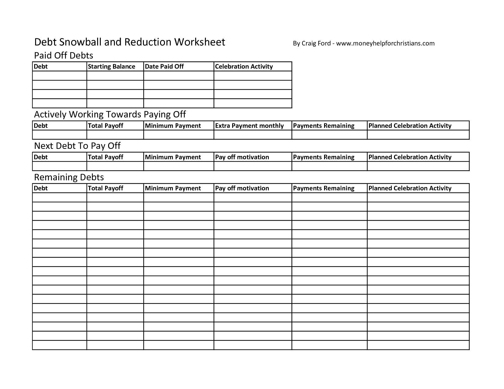16 Best Images Of Dave Ramsey Budget Worksheet Free