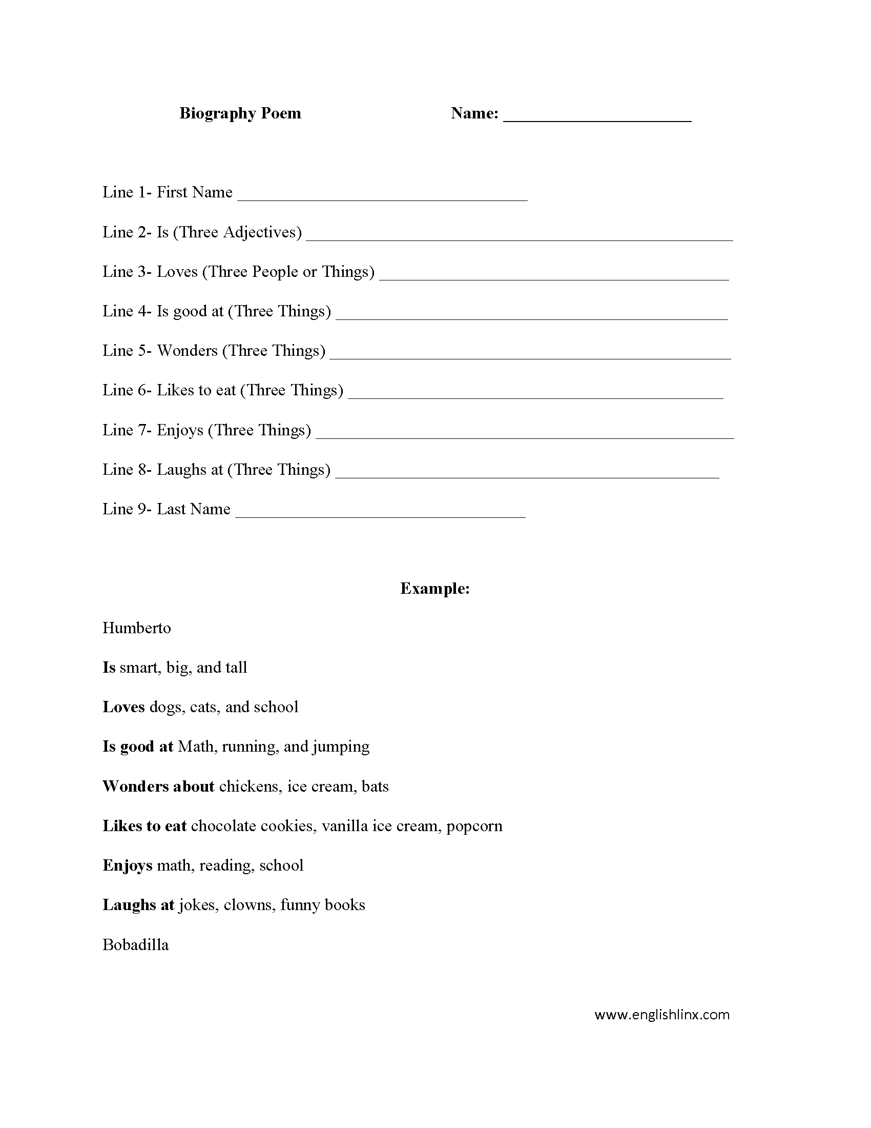 15 Best Images Of Biography Outline Worksheet