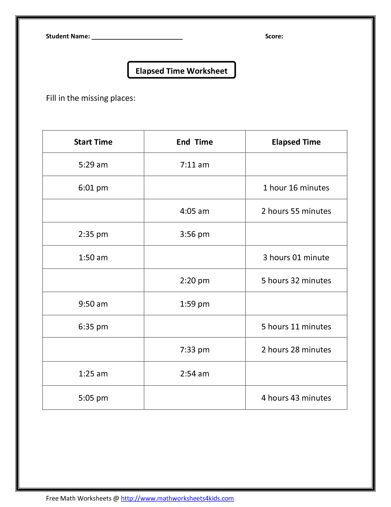 14 Best Images Of Am Pm Clock Worksheets