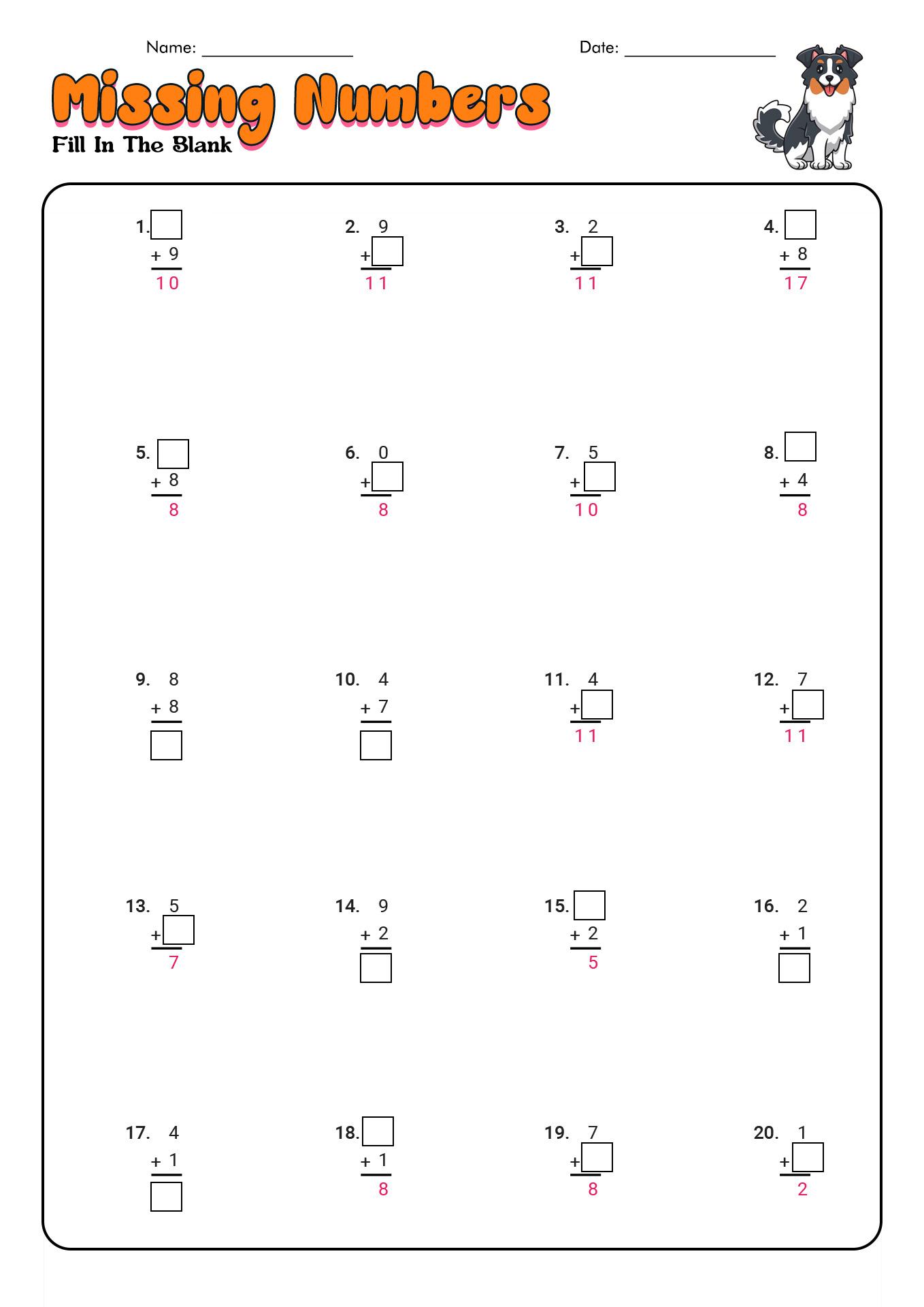 12 Best Images Of Math Worksheets Subtraction 1st Grade