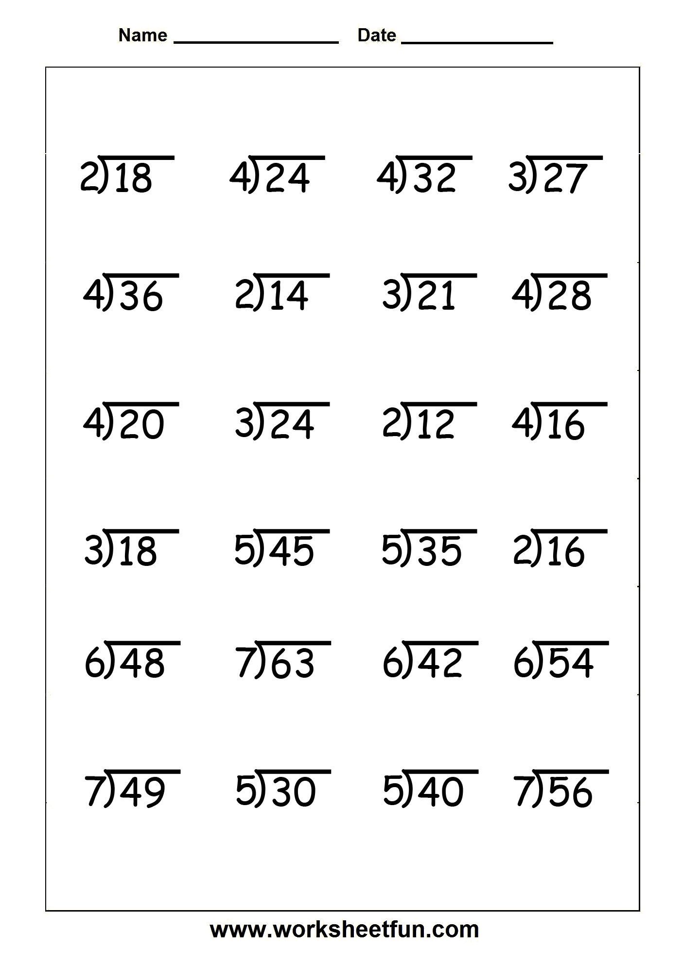 12 Best Images Of Long Division With Remainders Worksheets