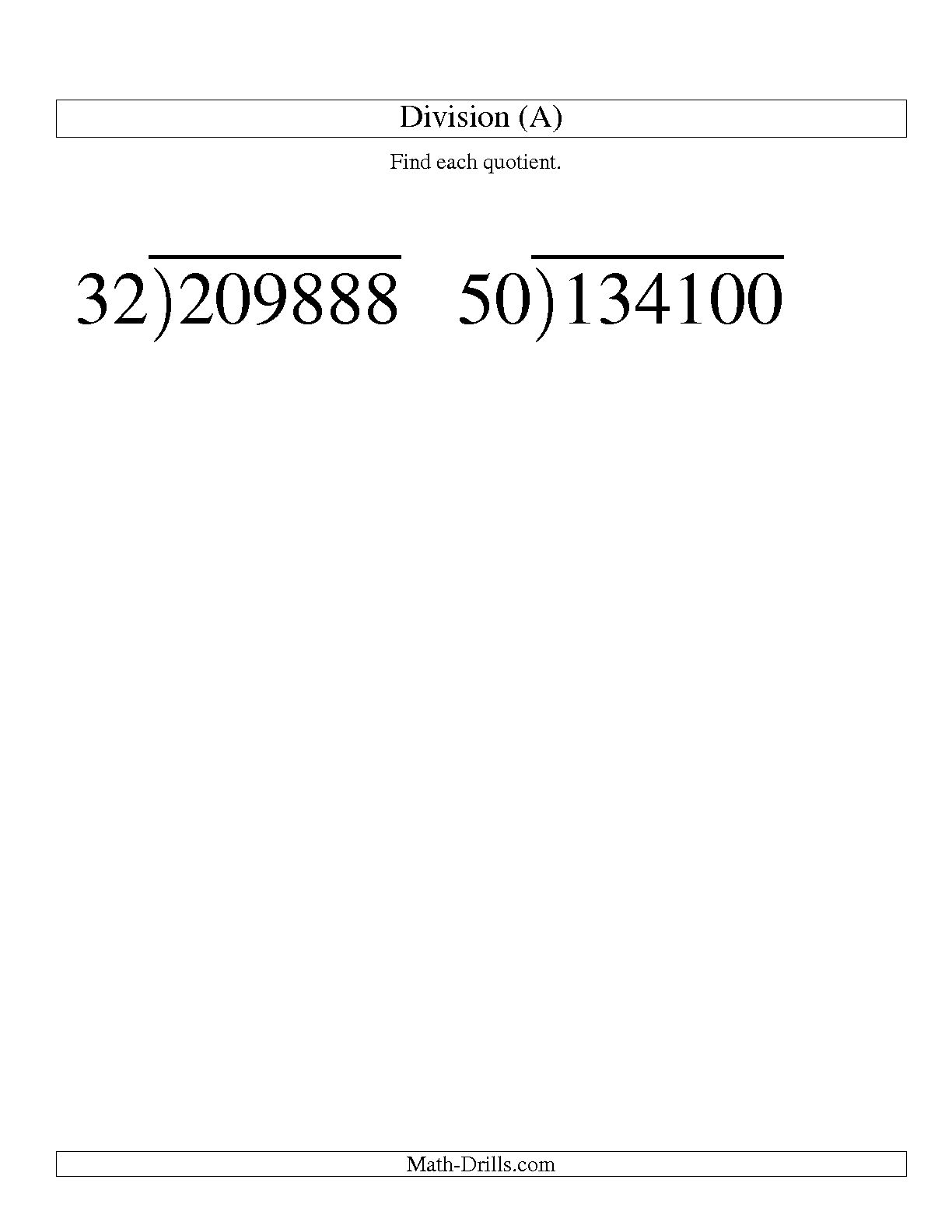 14 Best Images Of Two Digit Division Worksheets